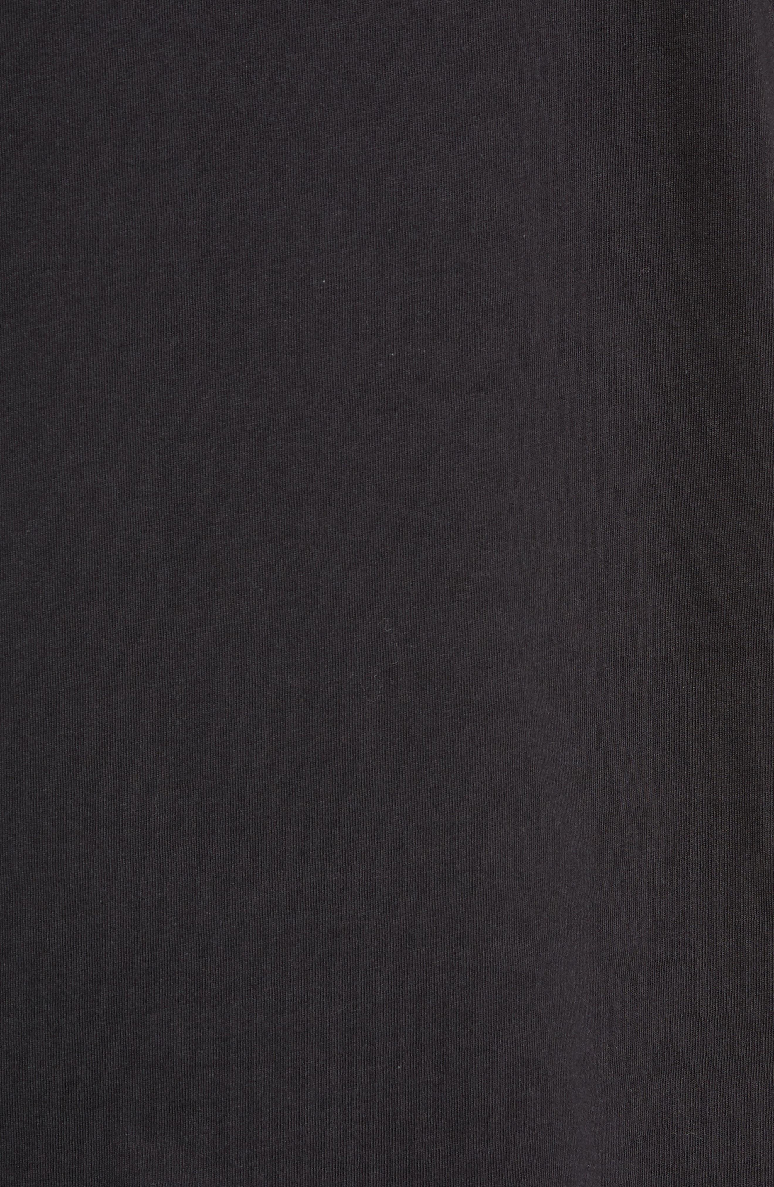 Floral Logo T-Shirt,                             Alternate thumbnail 5, color,                             BLACK/ WHITE