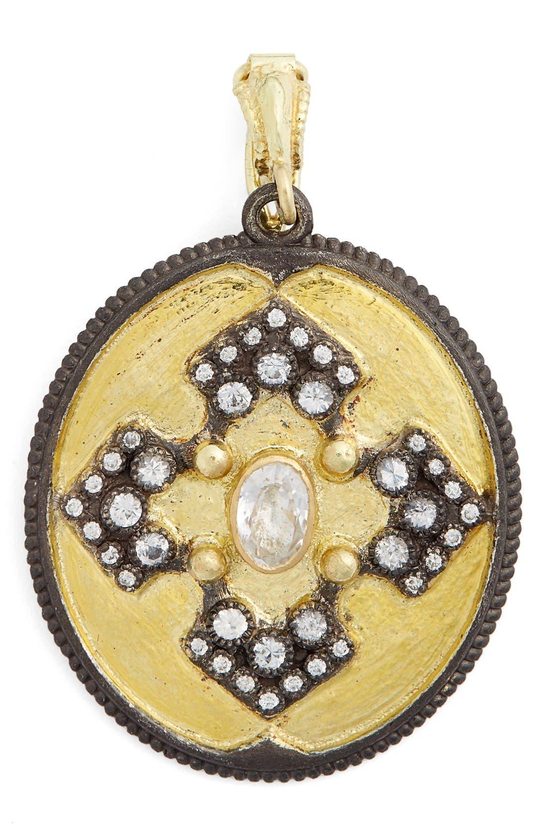 Old World Diamond Pendant,                         Main,                         color, GOLD