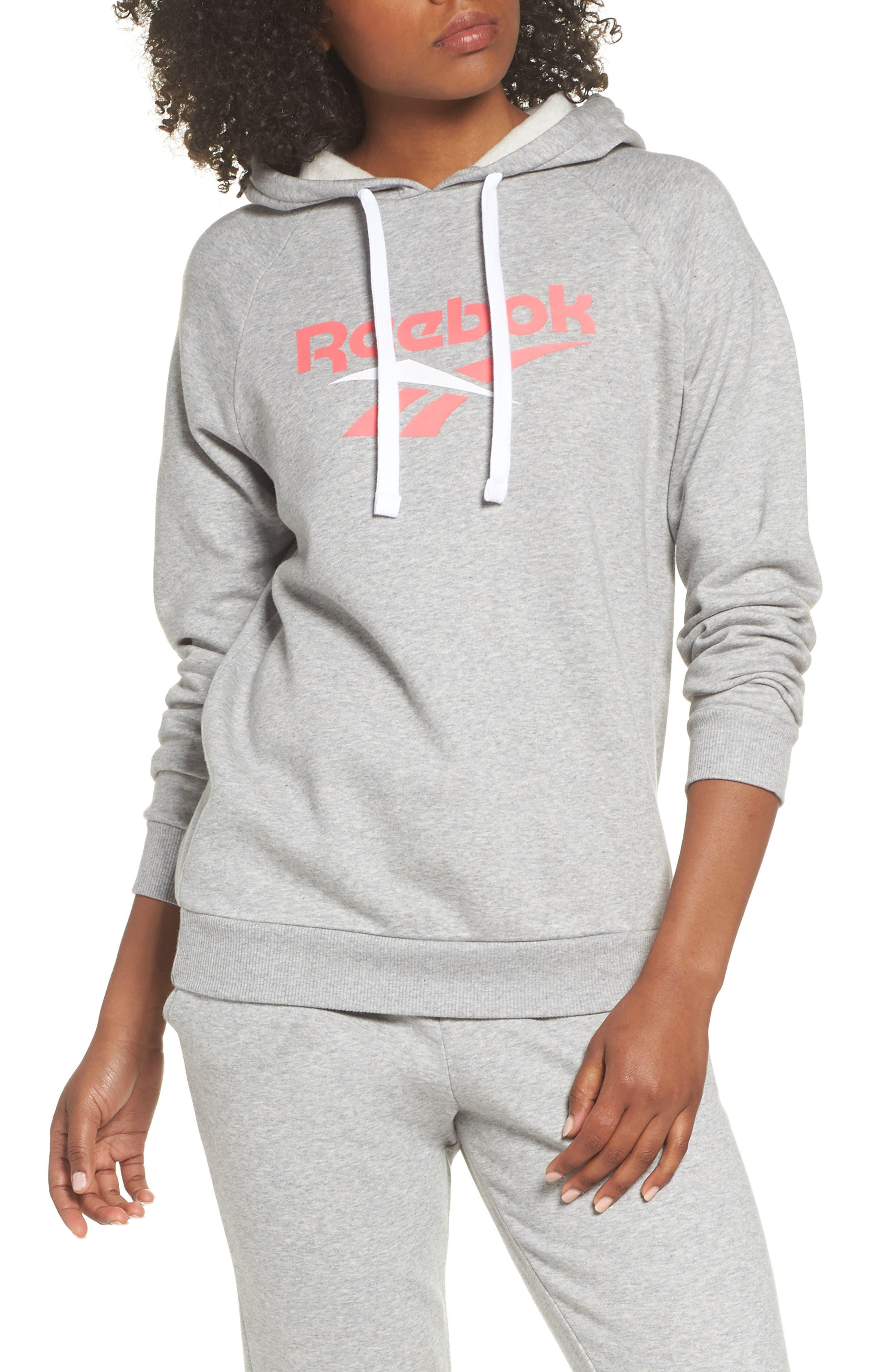 Reebok Logo Hoodie, Grey