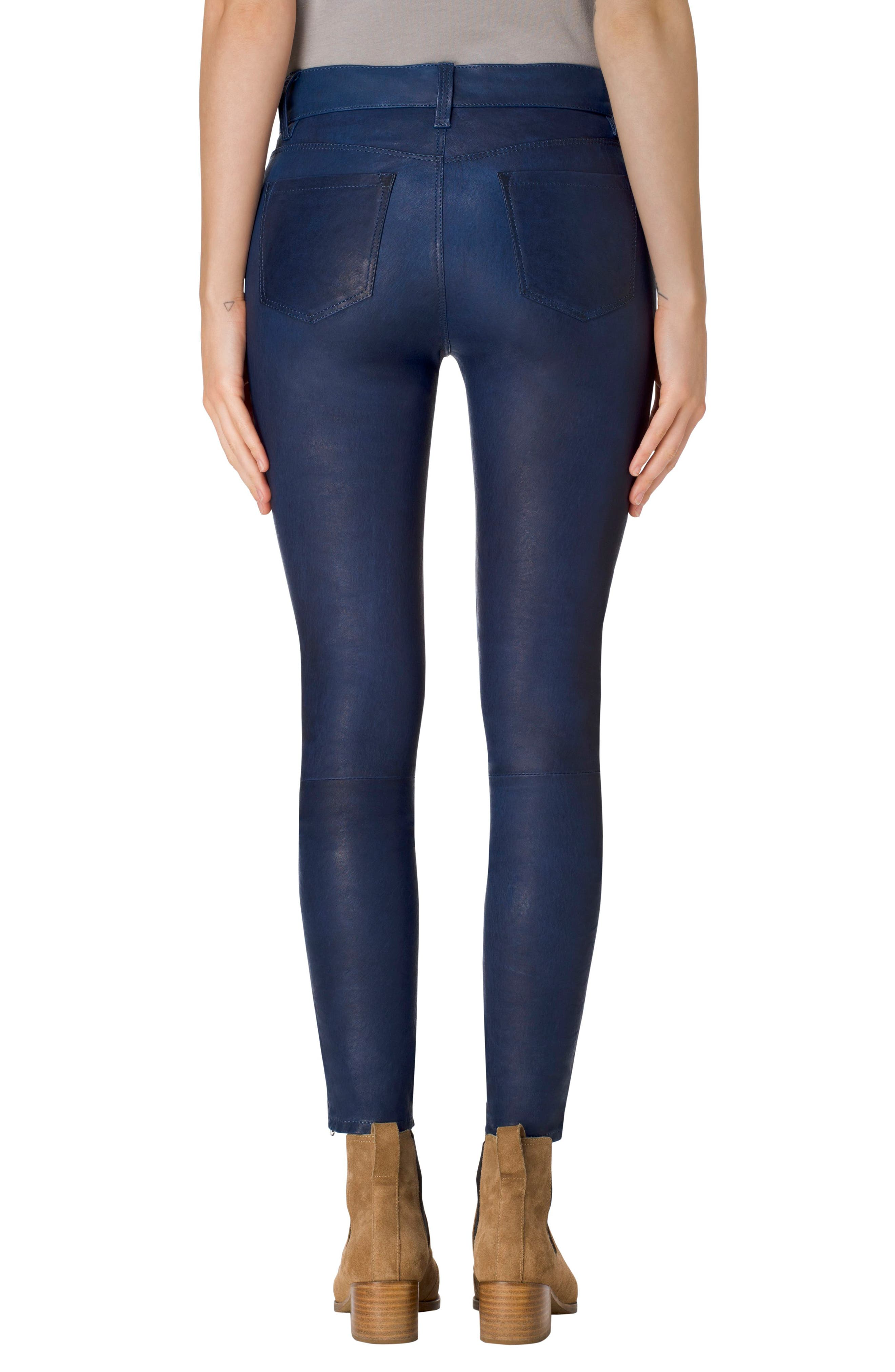 '8001' Lambskin Leather Pants,                             Alternate thumbnail 38, color,