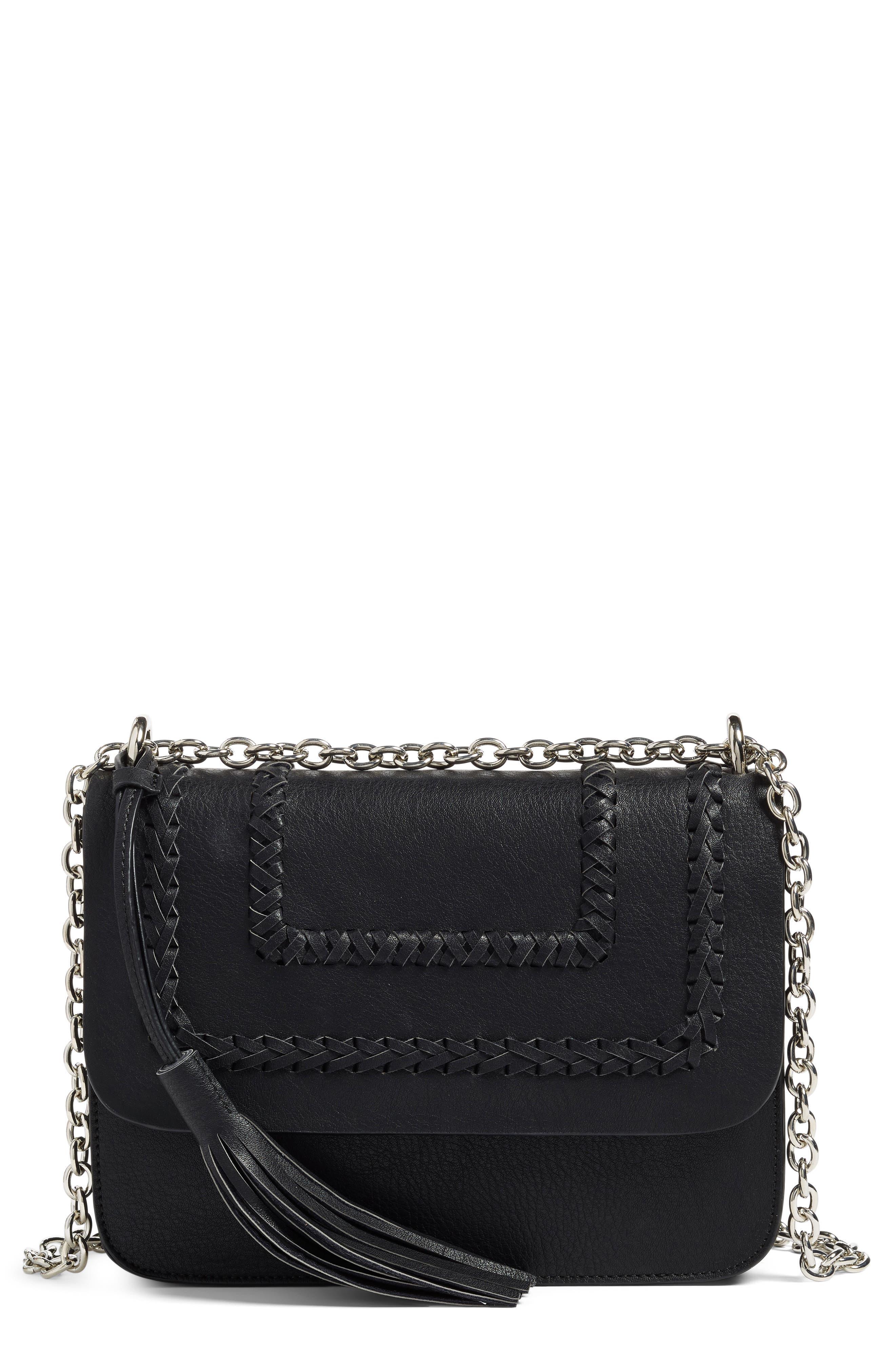 Chace Faux Leather Shoulder Bag,                         Main,                         color, 001