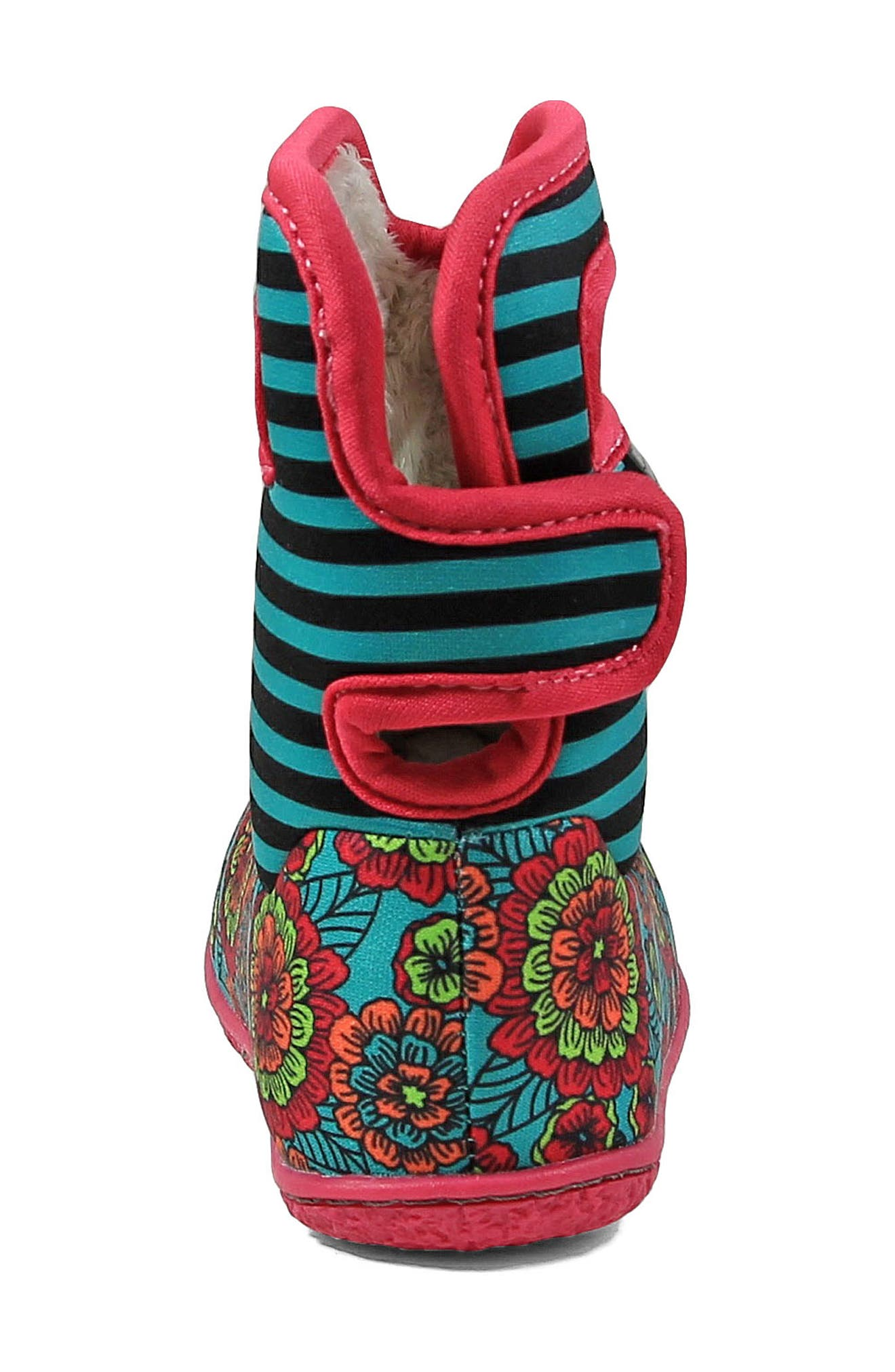 BOGS,                             Baby Bogs Classic Pansies Washable Insulated Waterproof Boot,                             Alternate thumbnail 7, color,                             346
