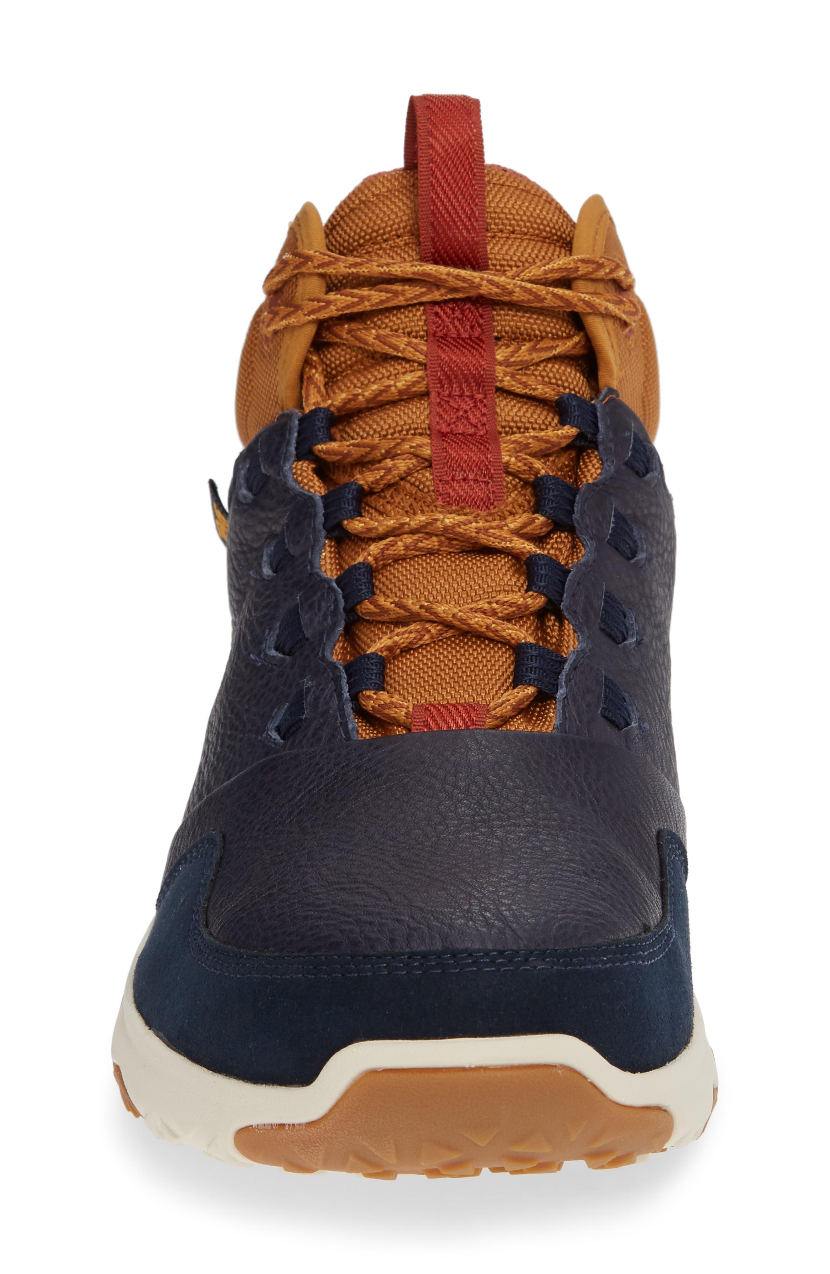 Arrowood 2 Mid Waterproof Sneaker Boot,                             Alternate thumbnail 4, color,                             MIDNIGHT NAVY LEATHER