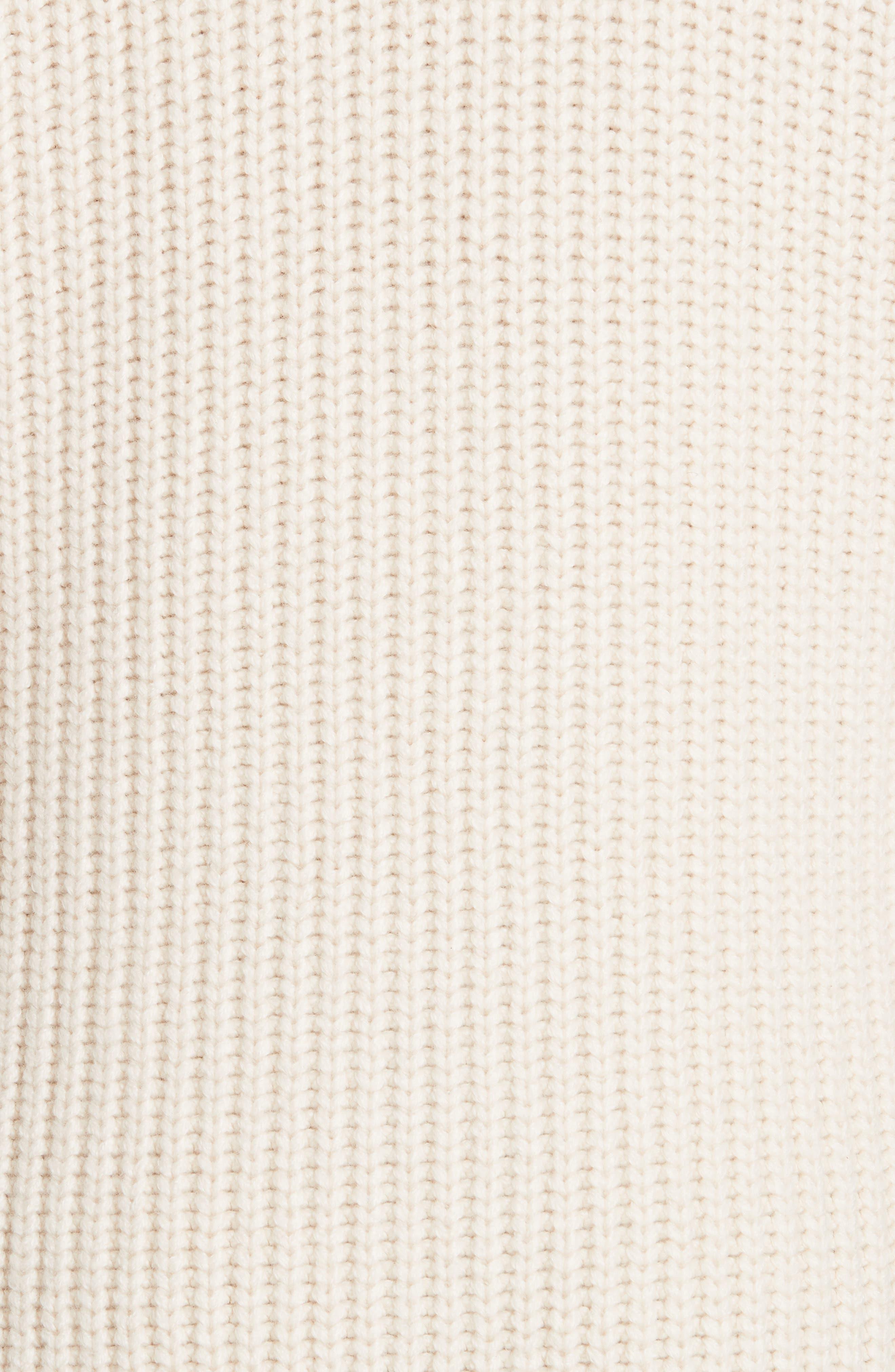 Tie Waist Cardigan,                             Alternate thumbnail 5, color,                             00101 OFF WHITE