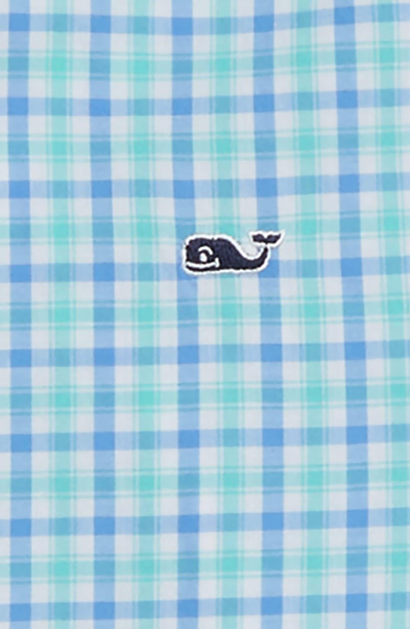 Poplin Cotton Whale Shirt,                             Alternate thumbnail 2, color,                             CAPRI BLUE