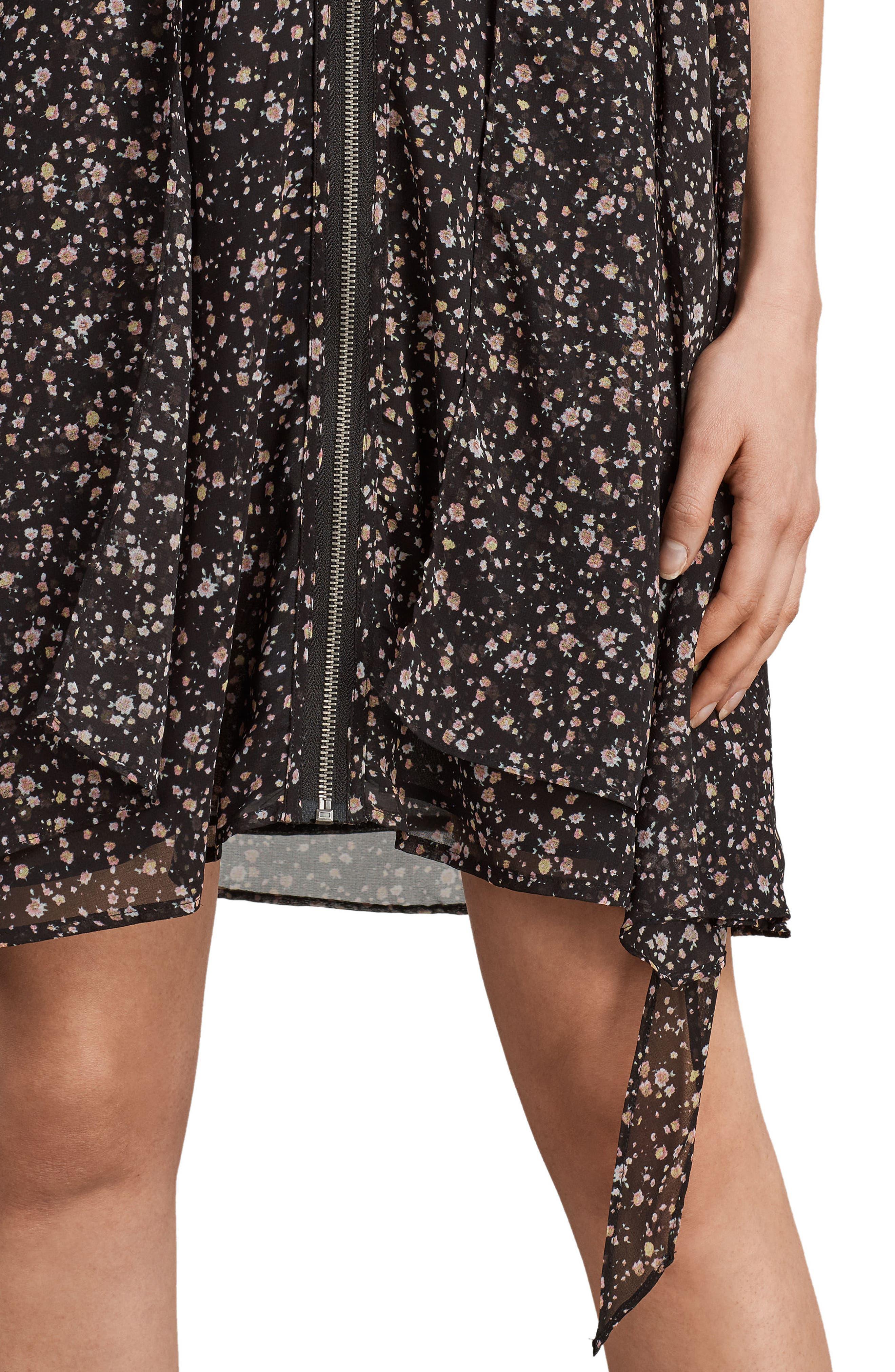 Jayda Pepper Floral Print Dress,                             Alternate thumbnail 4, color,                             001