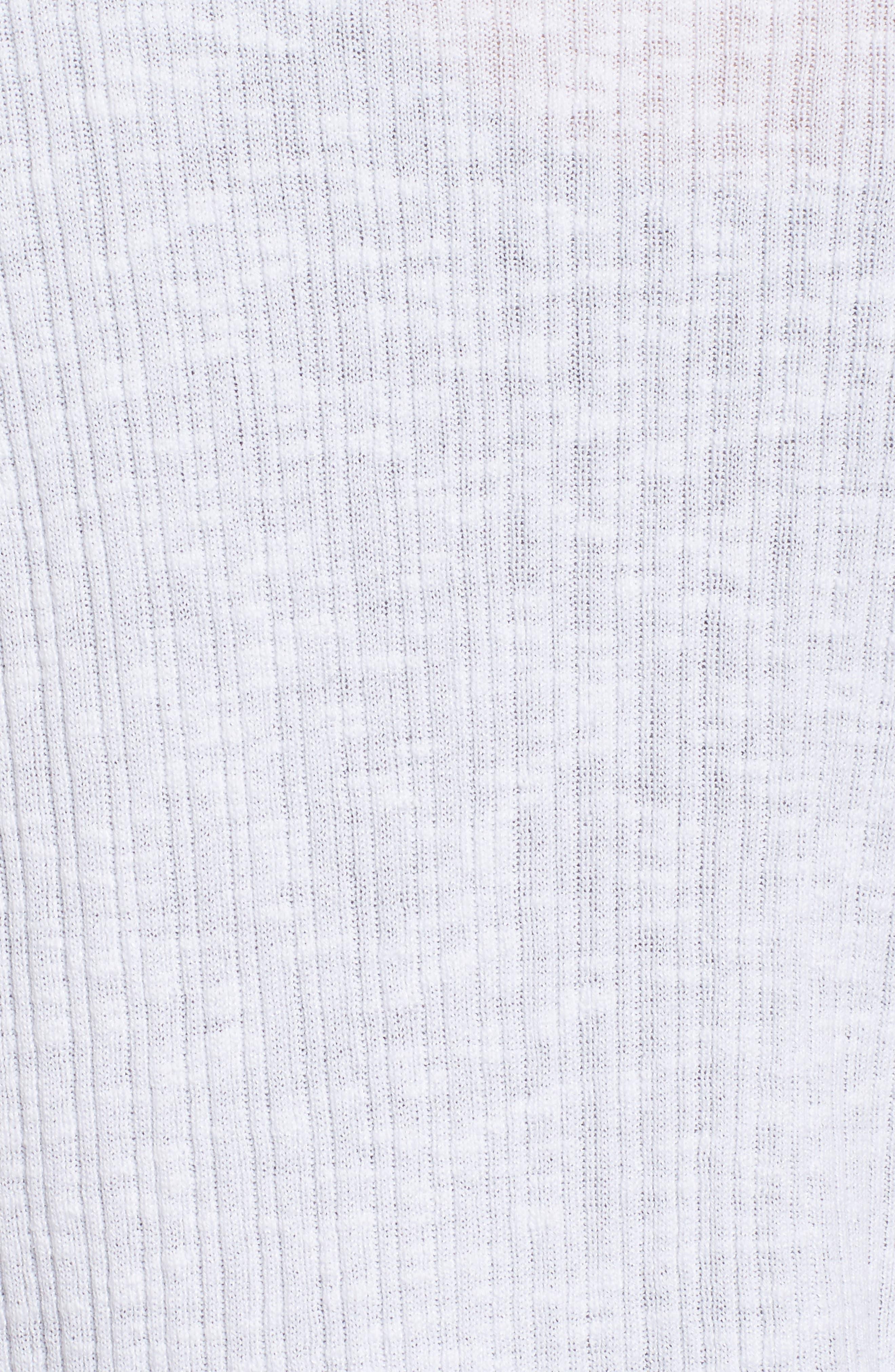 V-Neck Organic Linen & Cotton Cardigan,                             Alternate thumbnail 5, color,                             100