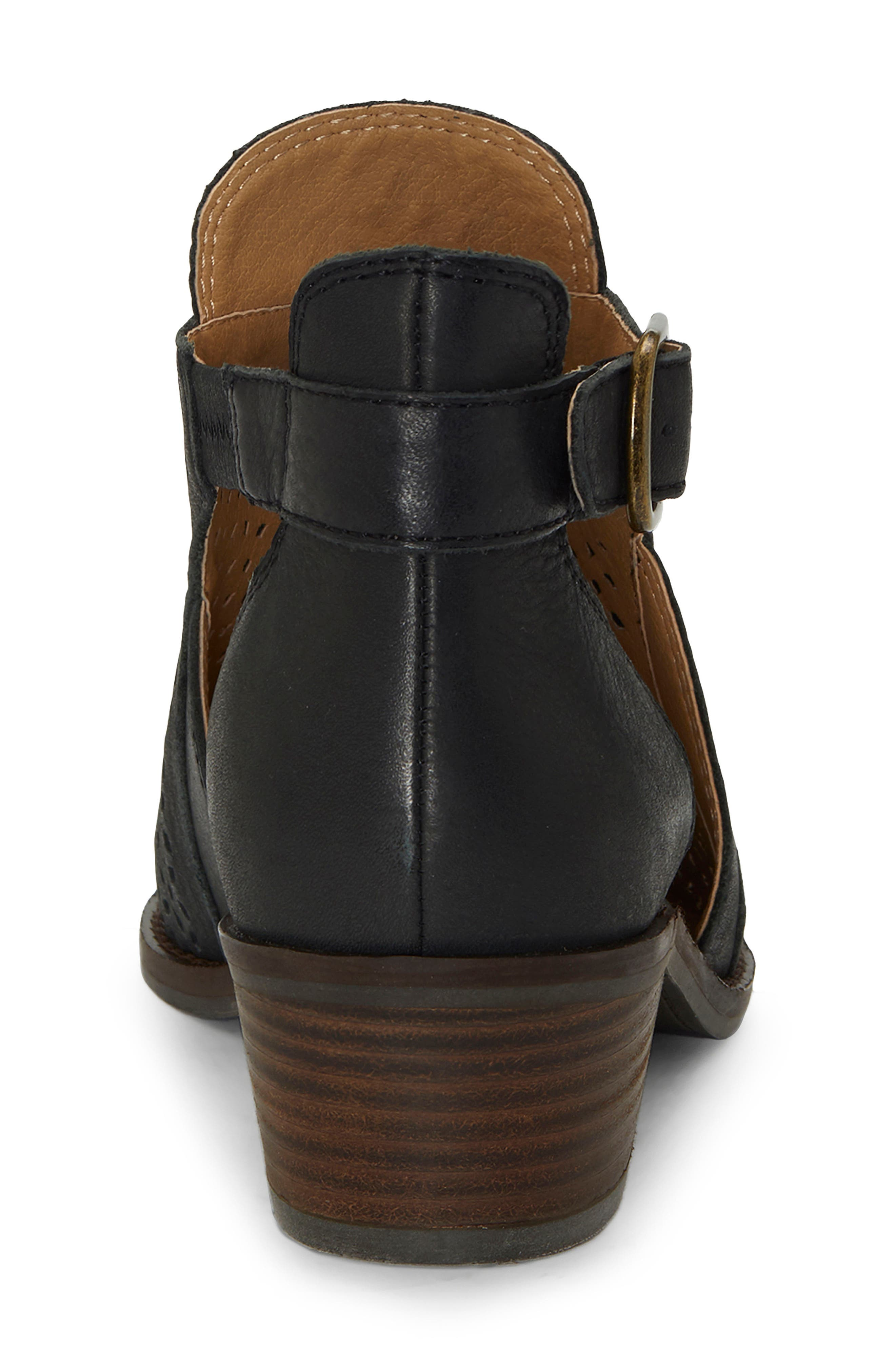 Fillian Bootie,                             Alternate thumbnail 7, color,                             BLACK LEATHER