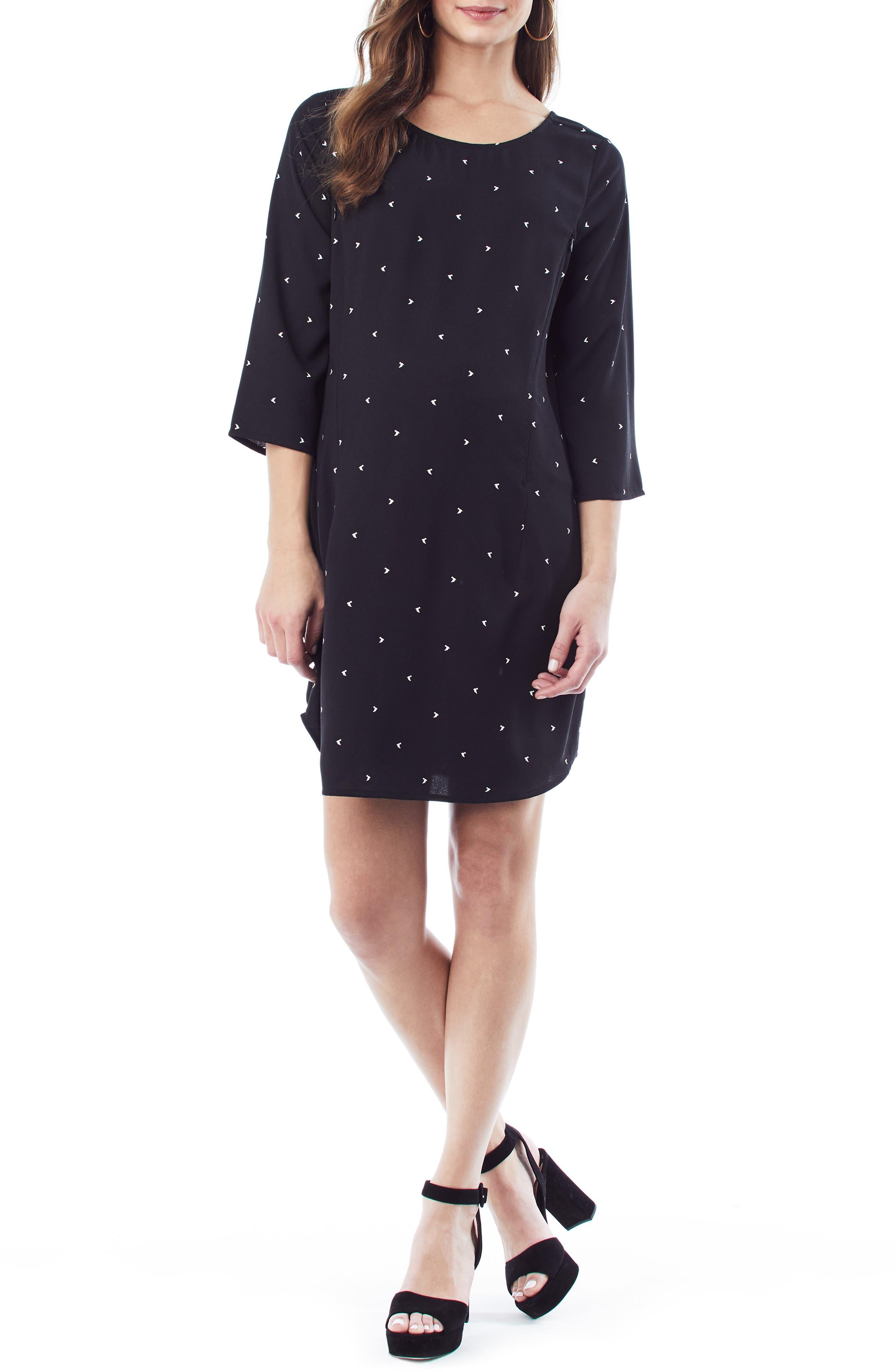 LOYAL HANA Layla Maternity/Nursing Dress, Main, color, BLACK BIRD