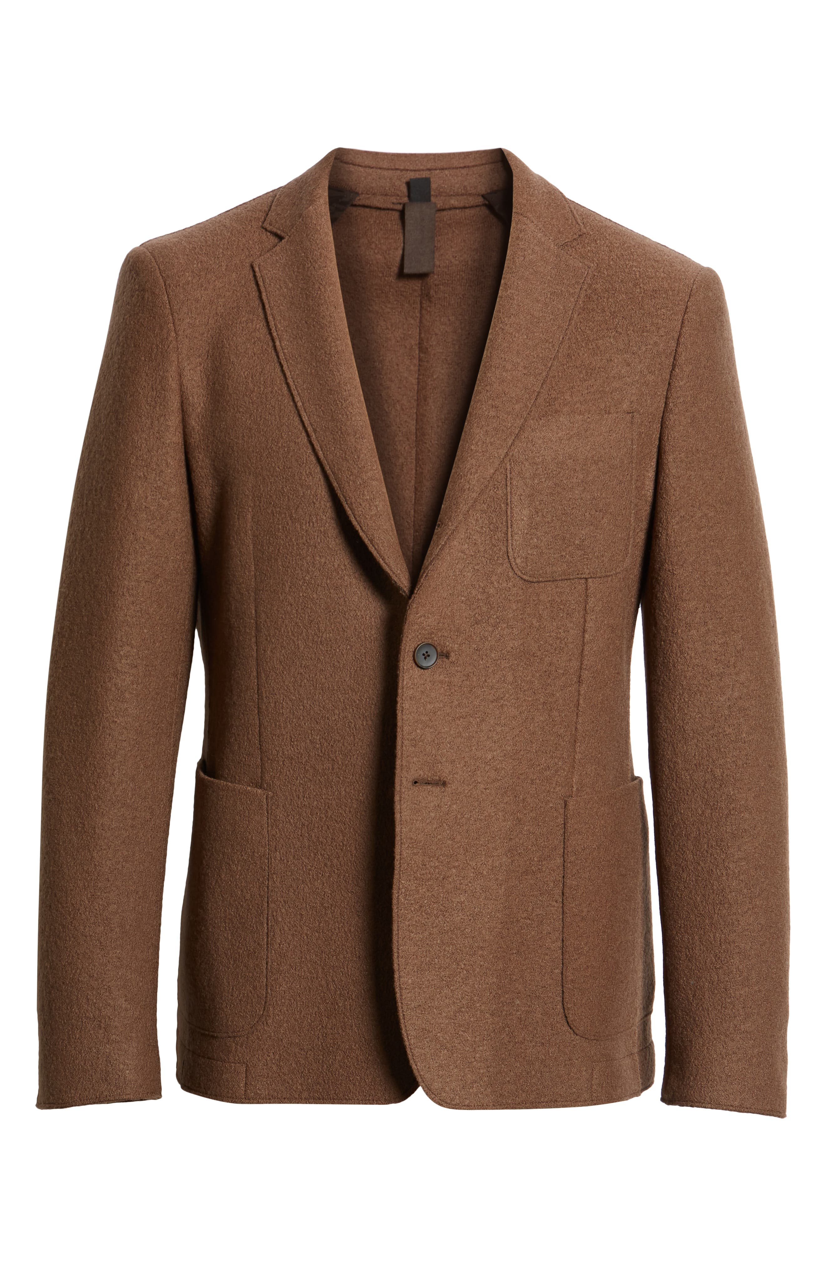 Nixan Trim Fit Wool Sport Coat,                             Alternate thumbnail 5, color,                             LIGHT/ PASTEL BROWN