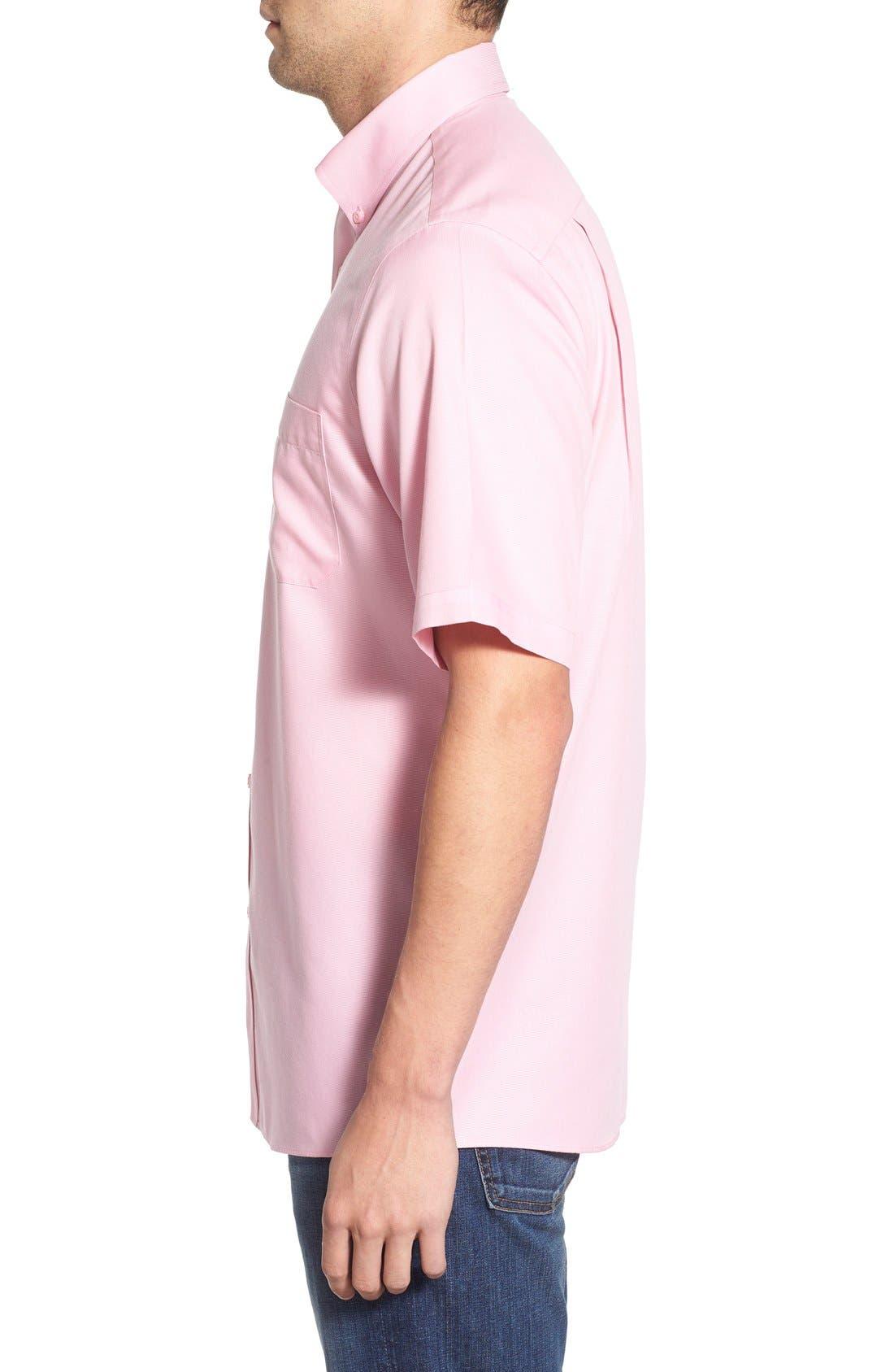 'Classic' Smartcare<sup>™</sup> Regular Fit Short Sleeve Cotton Sport Shirt,                             Alternate thumbnail 94, color,