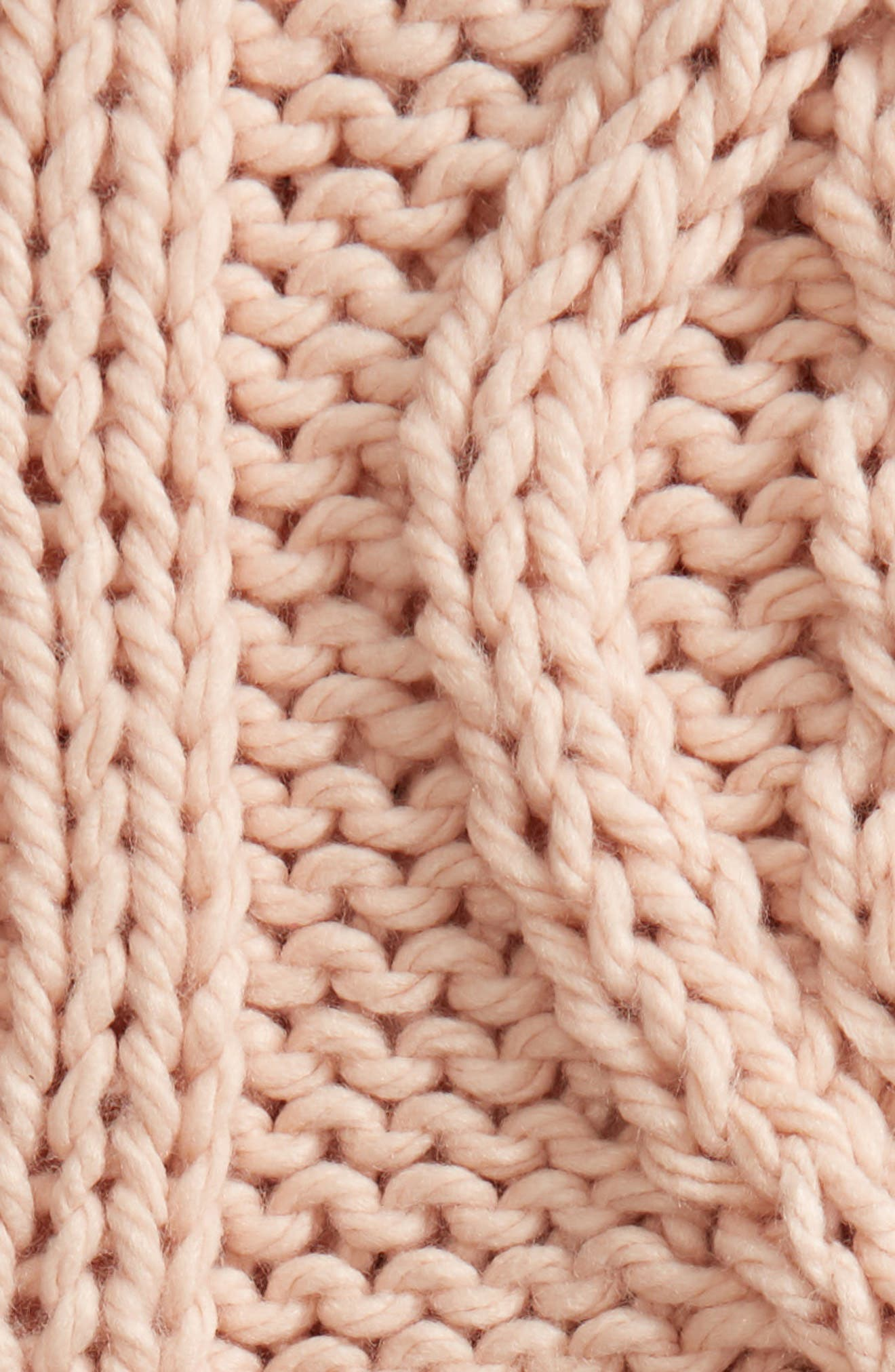 Chunky Cable Knit Throw Blanket,                             Alternate thumbnail 2, color,                             PINK HERO