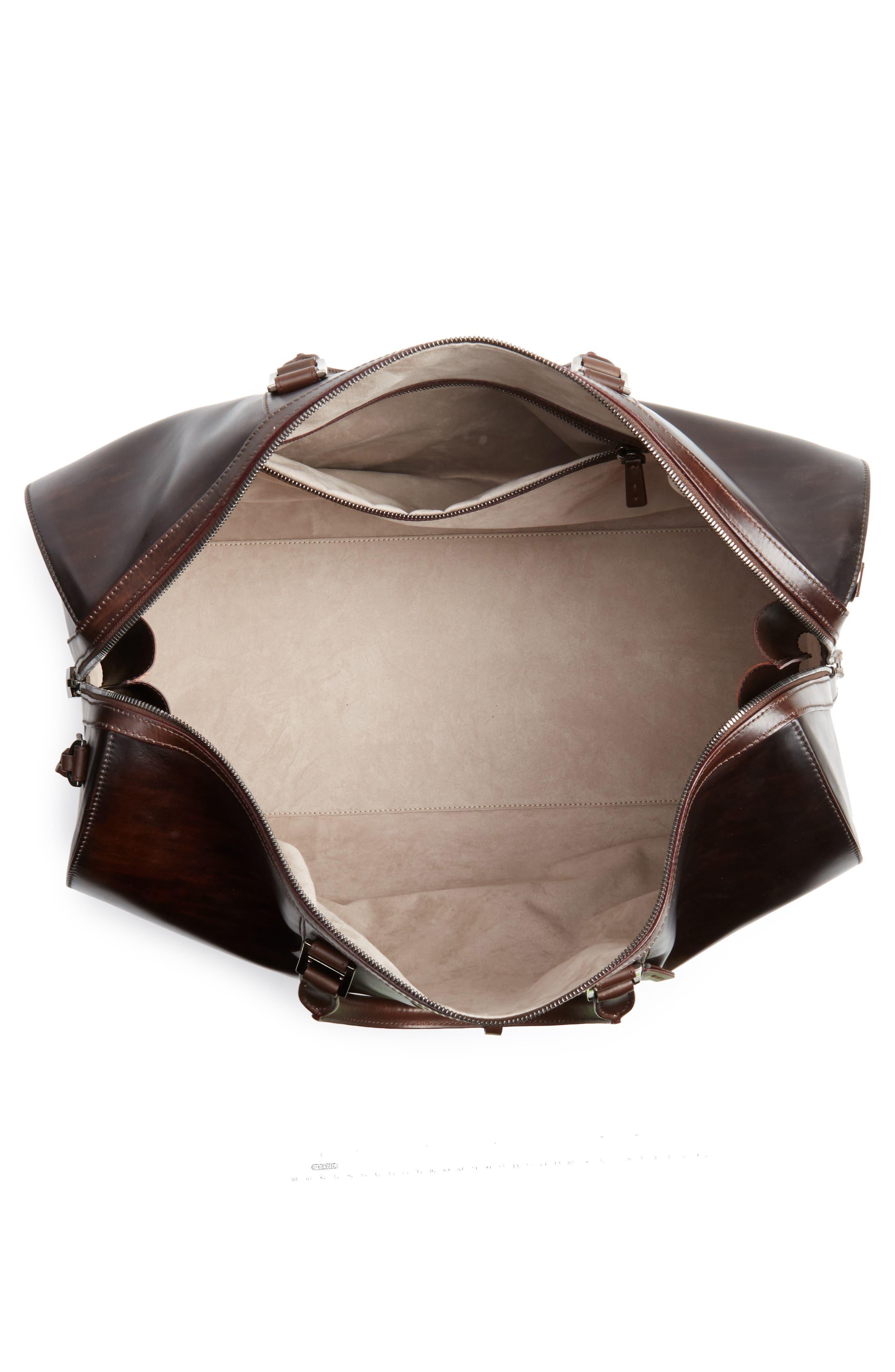 Traveler Leather Duffel Bag,                             Alternate thumbnail 13, color,
