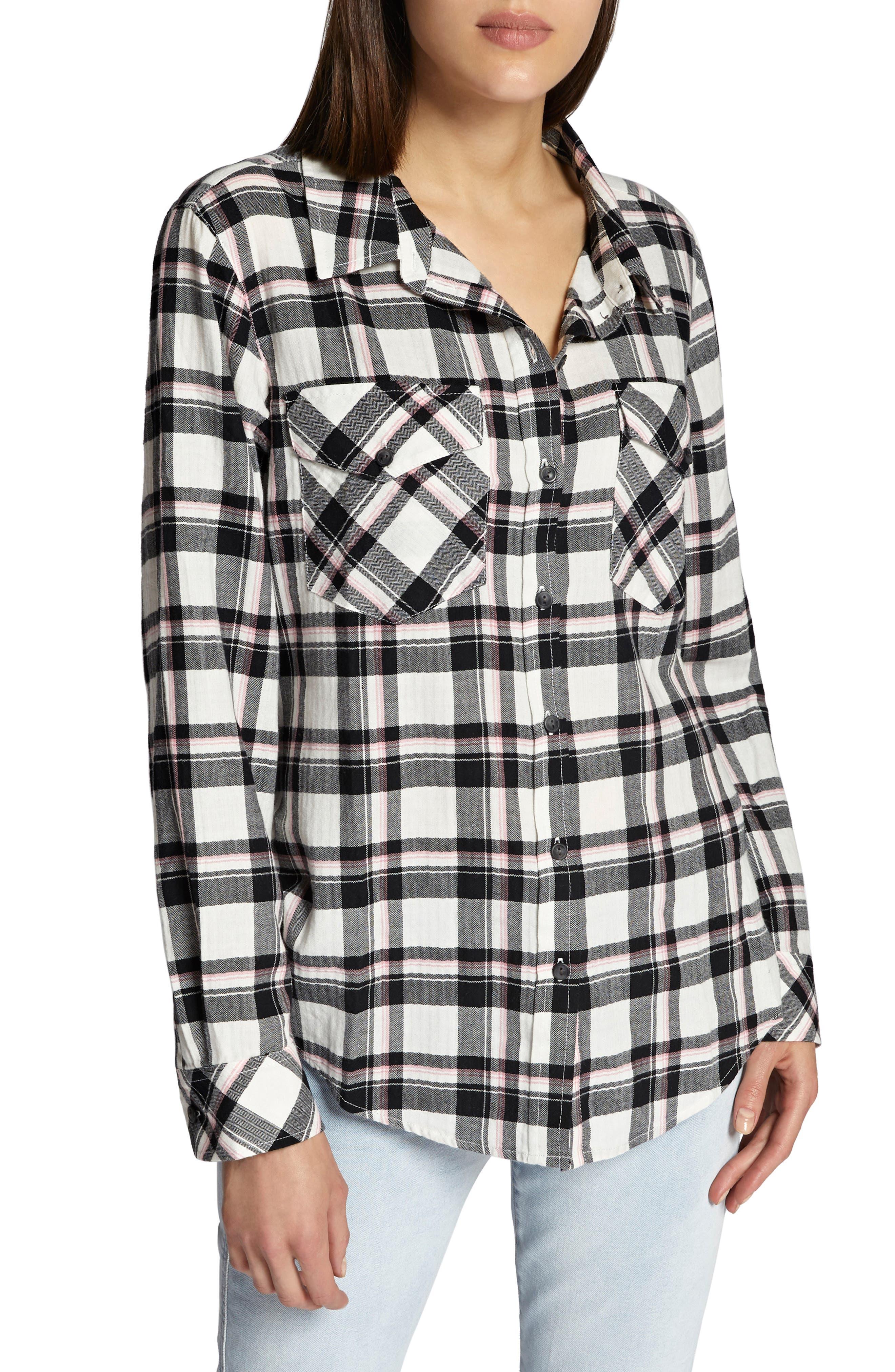 Boyfriend for Life Shirt,                         Main,                         color, FIZZ PLAID