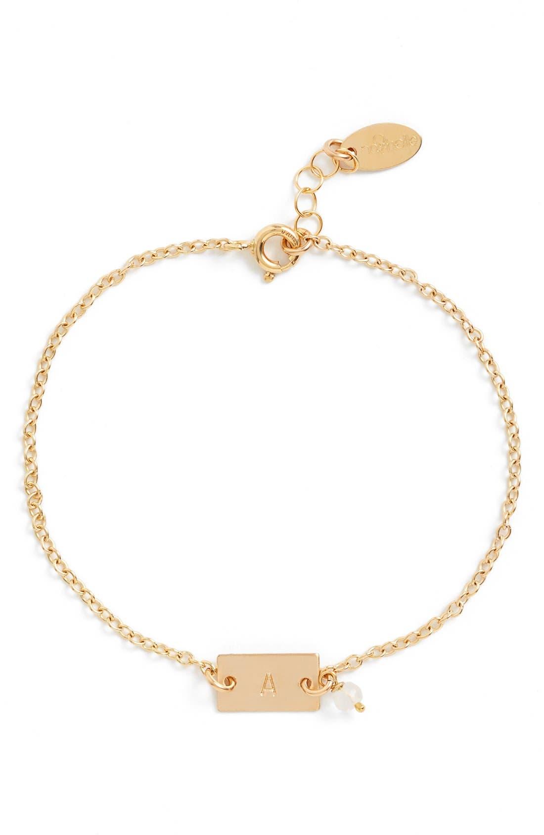 Shaka Initial 14k-Gold Fill Bar Bracelet,                             Main thumbnail 1, color,                             710