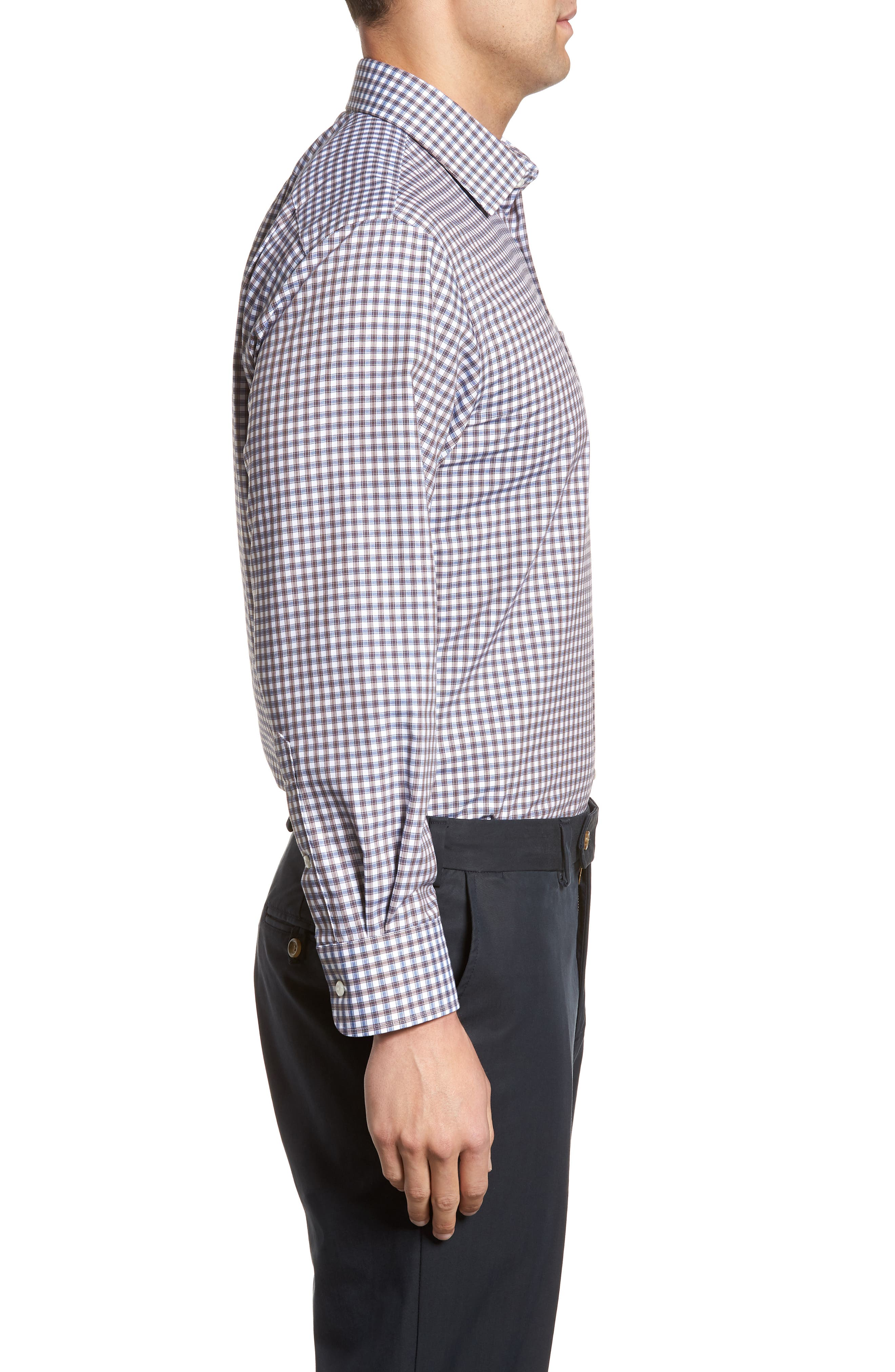 Traditional Fit Non-Iron Check Dress Shirt,                             Alternate thumbnail 4, color,                             210