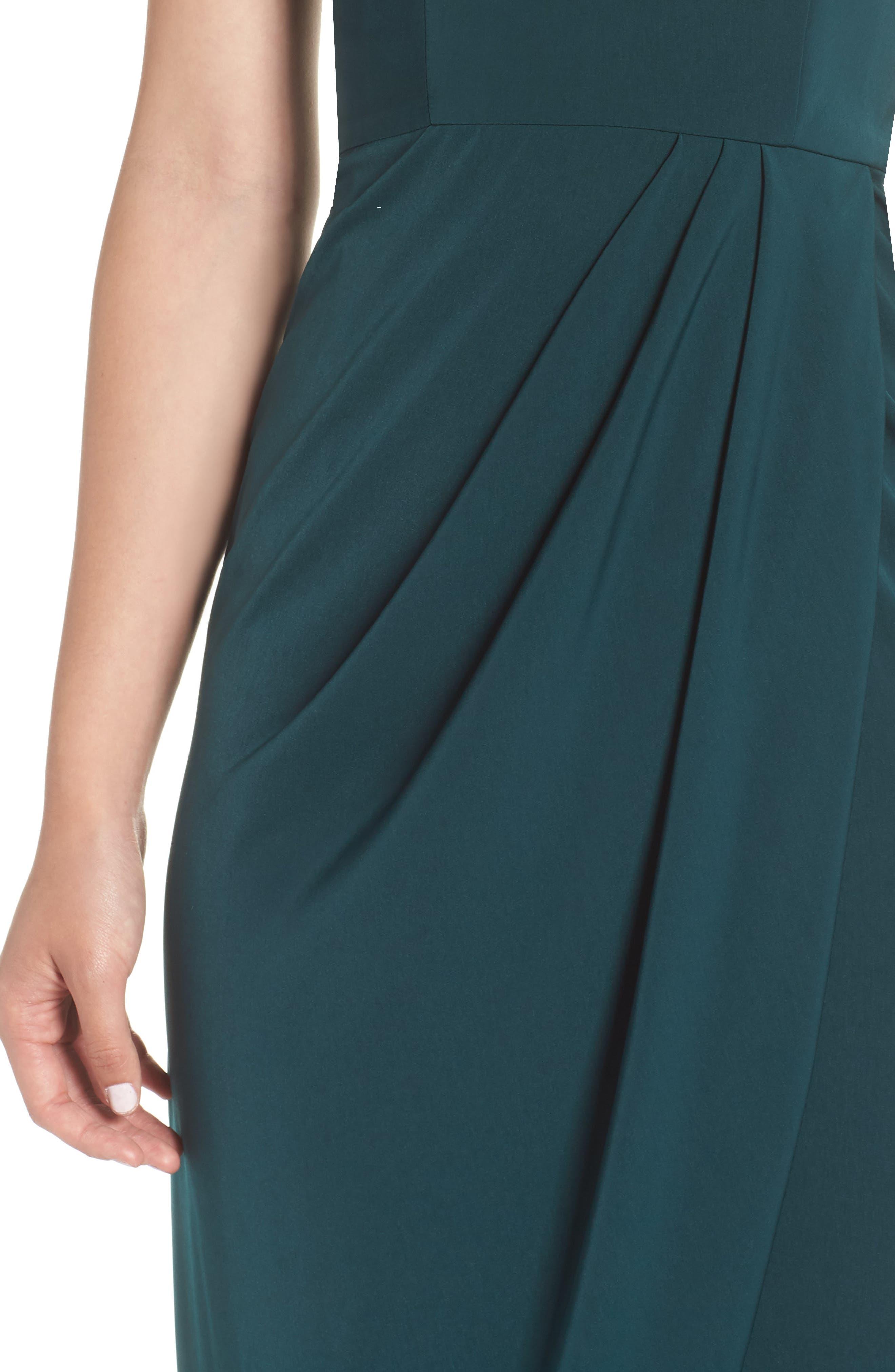 Tulip Hem Maxi Dress,                             Alternate thumbnail 4, color,                             SEAWEED