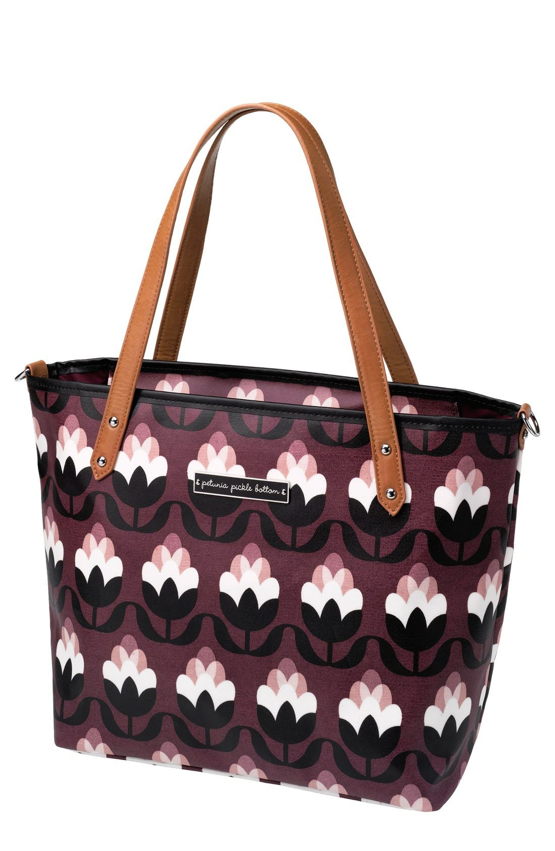 'Downtown Mini' Coated Canvas Diaper Tote,                             Main thumbnail 6, color,
