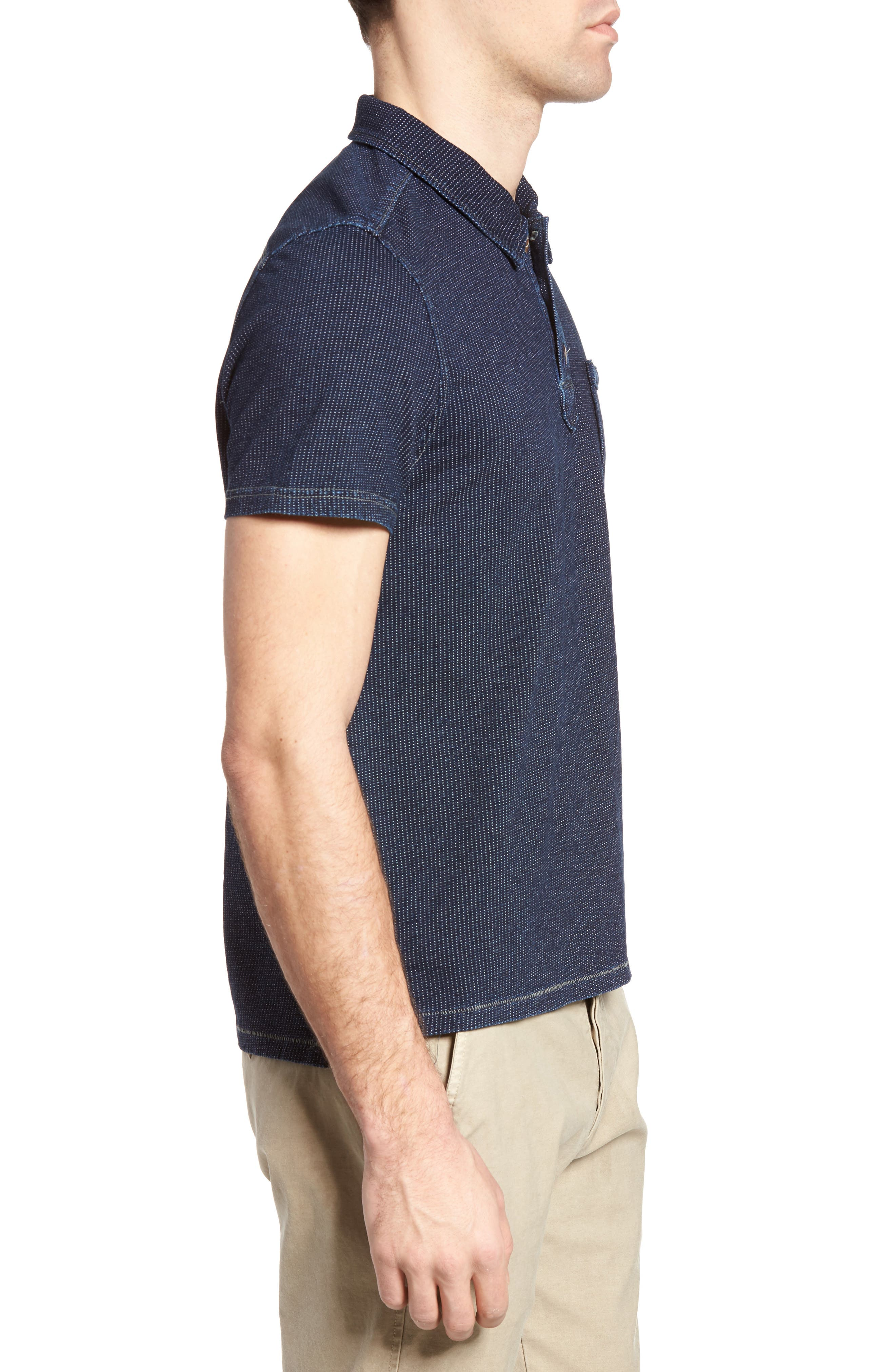 Humboldt Indigo Jacquard Polo,                             Alternate thumbnail 3, color,                             419