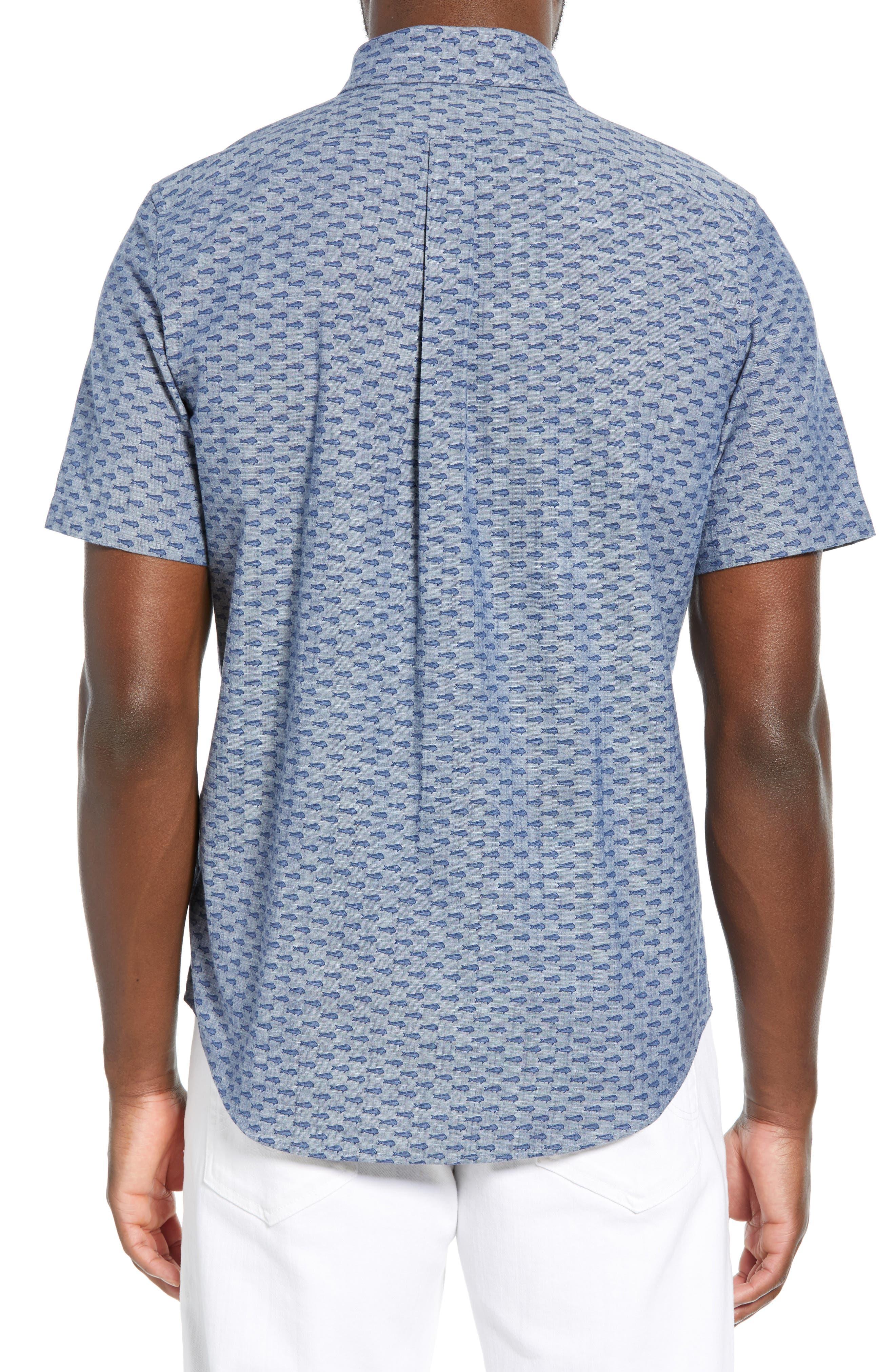 VINEYARD VINES,                             Murray Slim Fit Sport Shirt,                             Alternate thumbnail 3, color,                             SKYFALL