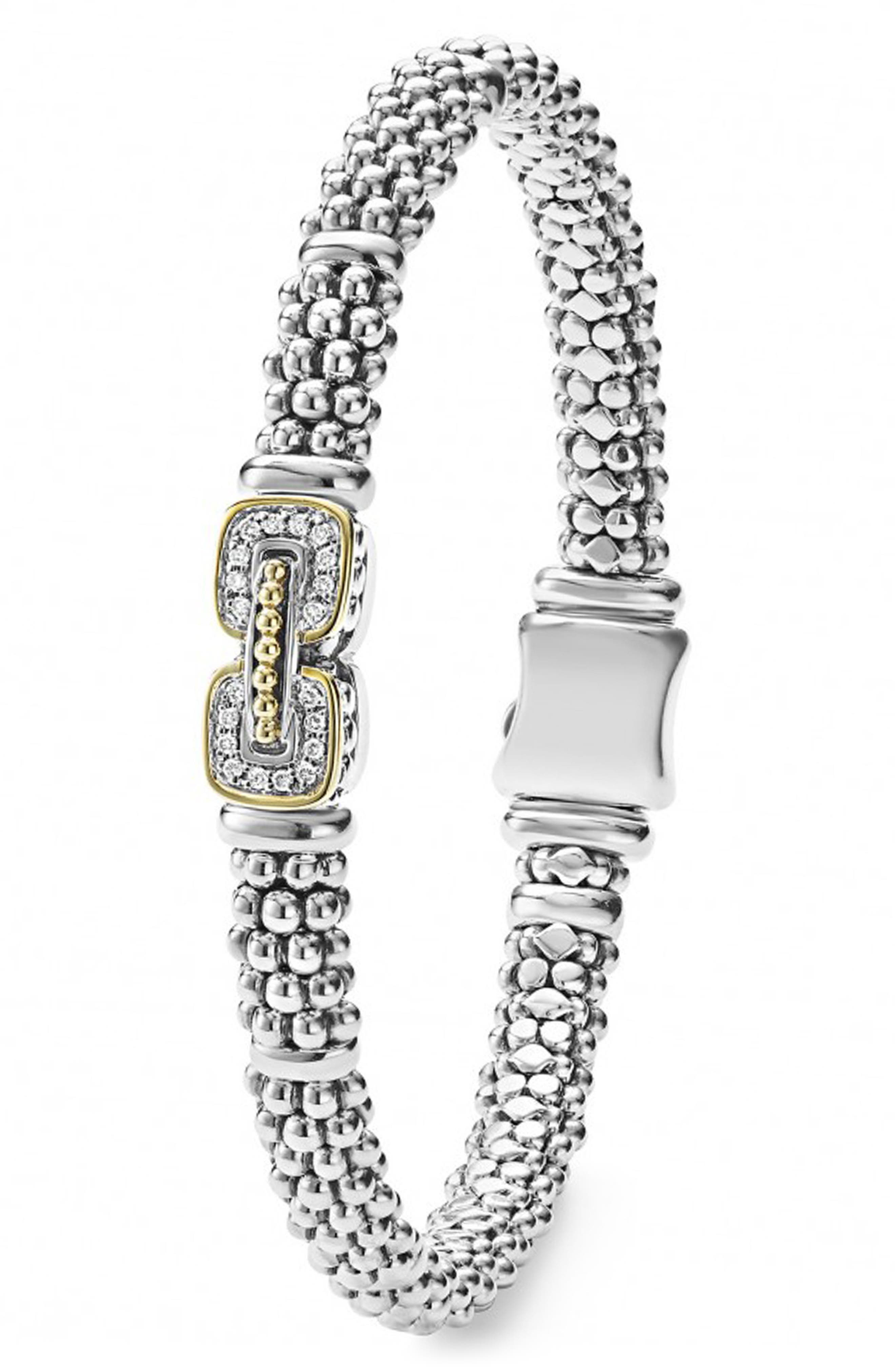 Diamond Caviar Bracelet,                             Alternate thumbnail 4, color,                             040
