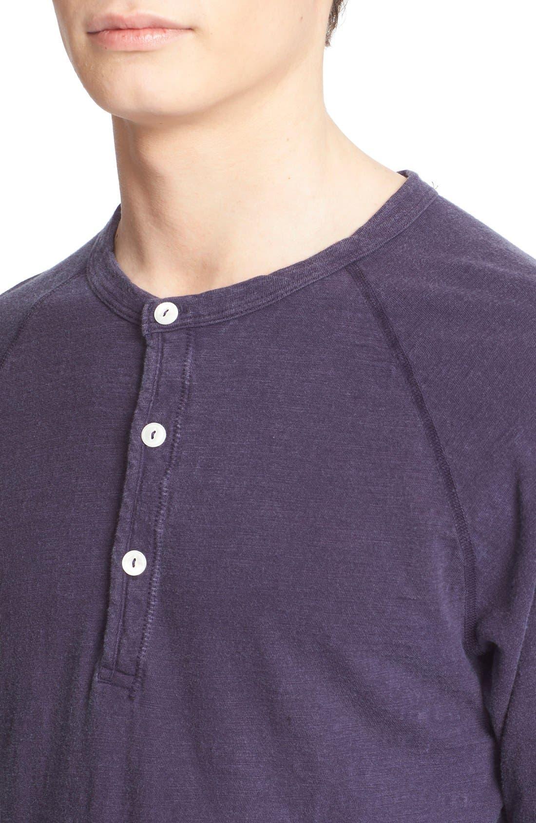 Long Sleeve Cotton Jersey Henley,                             Alternate thumbnail 5, color,