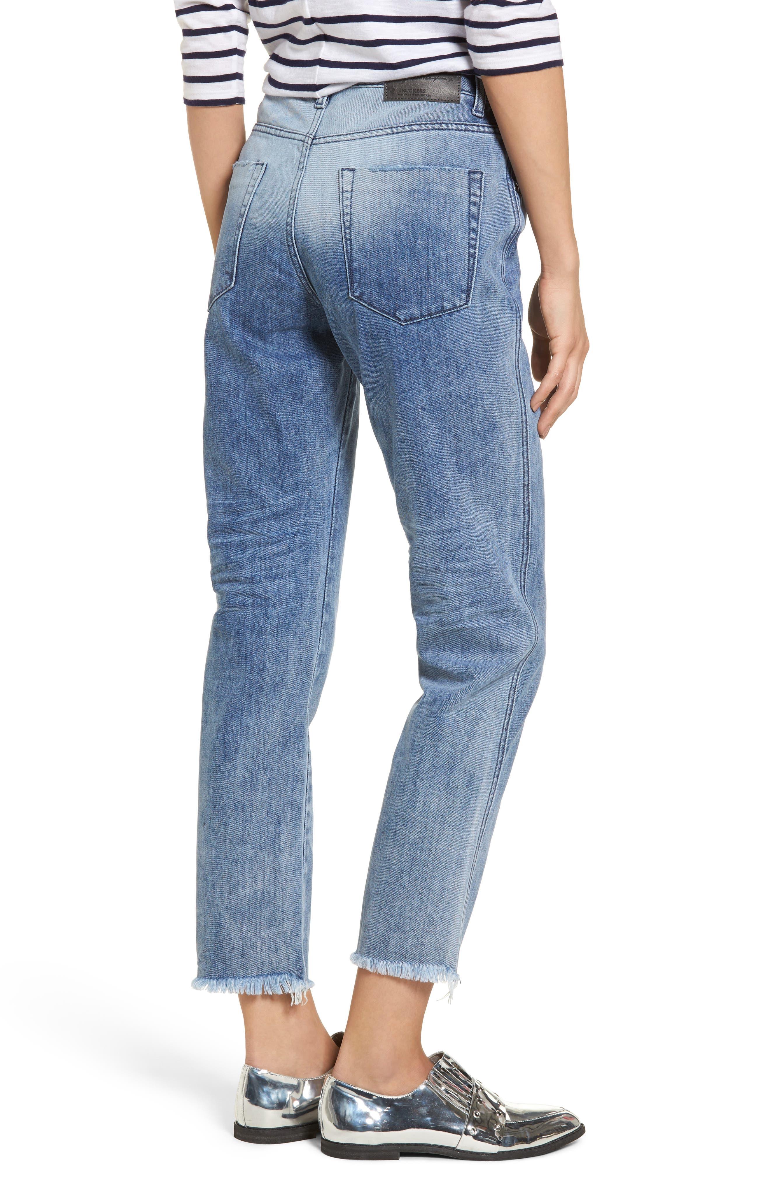 Tuckers High Waist Straight Leg Jeans,                             Alternate thumbnail 2, color,