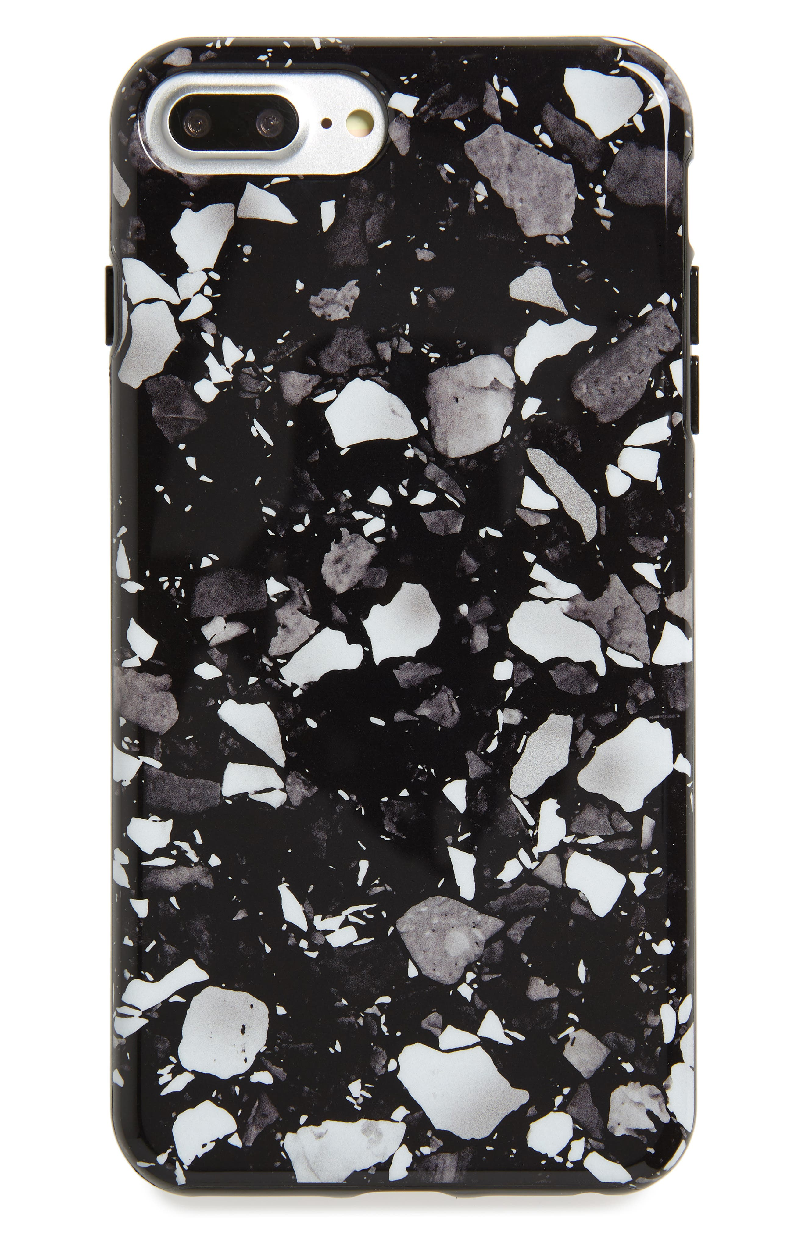 Genuine Marble iPhone 6/6s/7/8 & 6/6s/7/8 Plus Case,                             Main thumbnail 1, color,                             BLACK