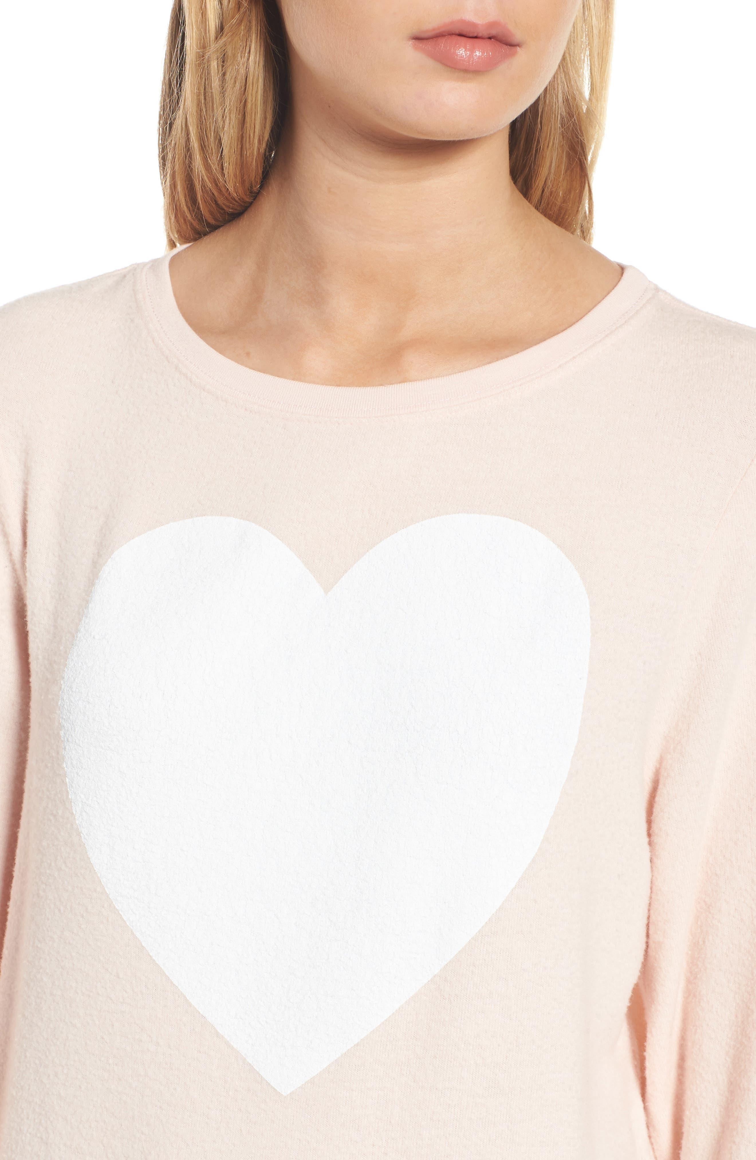 Heart Sweatshirt,                             Alternate thumbnail 4, color,                             650
