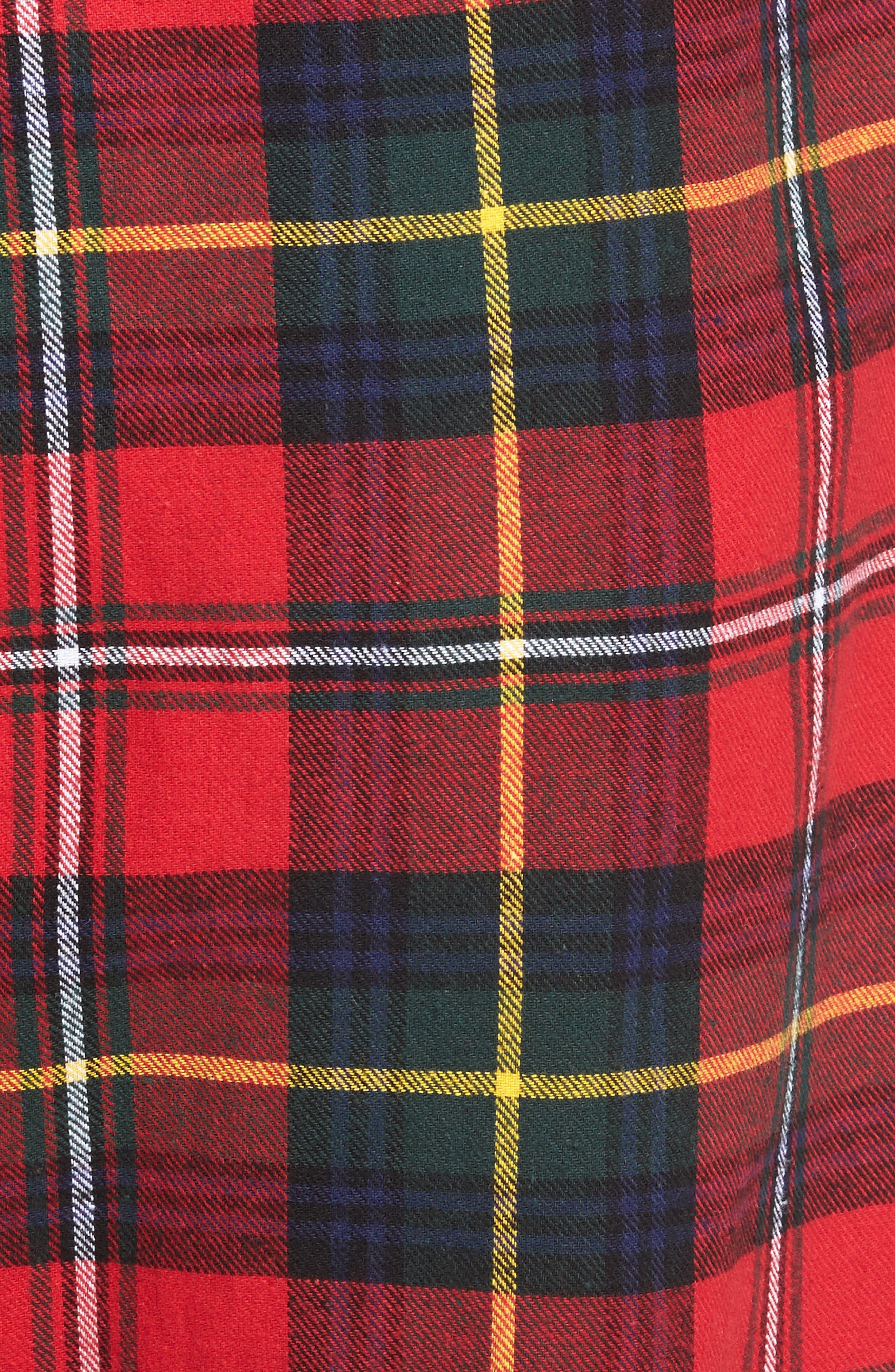 Flannel Pajama Pants,                             Alternate thumbnail 65, color,