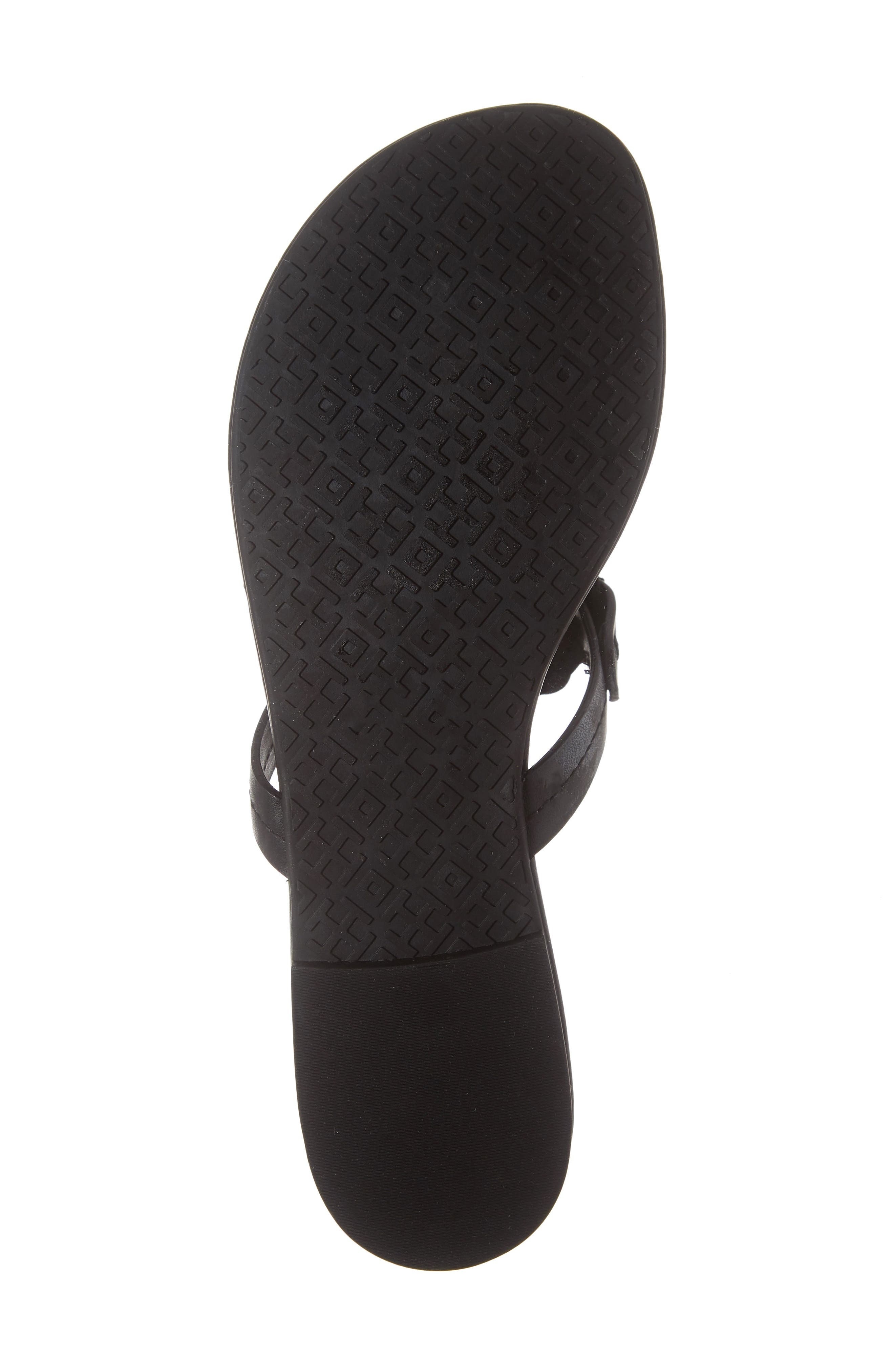Miller Scalloped Medallion Sandal,                             Alternate thumbnail 6, color,                             PERFECT BLACK/ PERFECT NAVY
