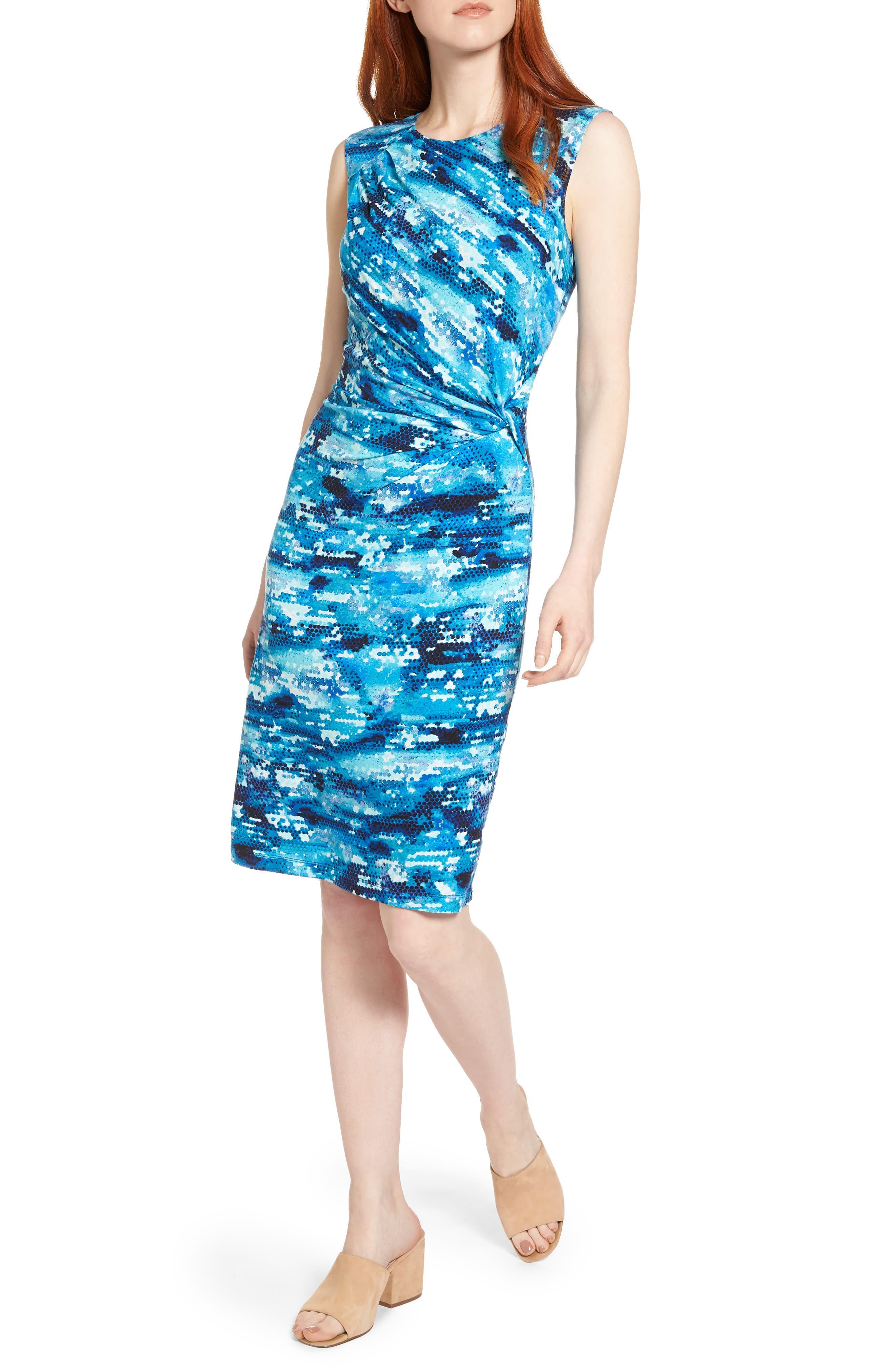 Surf Spray Sheath Dress,                         Main,                         color, 490