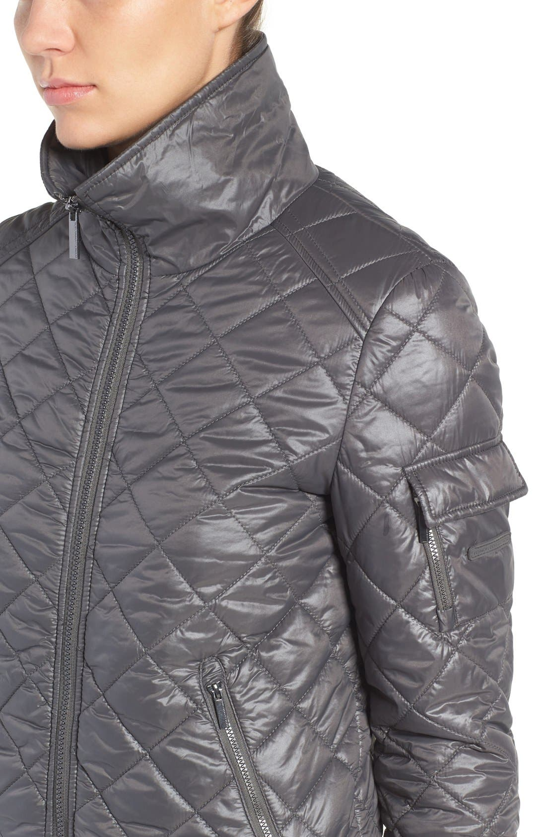 Quilted Bomber Jacket,                             Alternate thumbnail 8, color,
