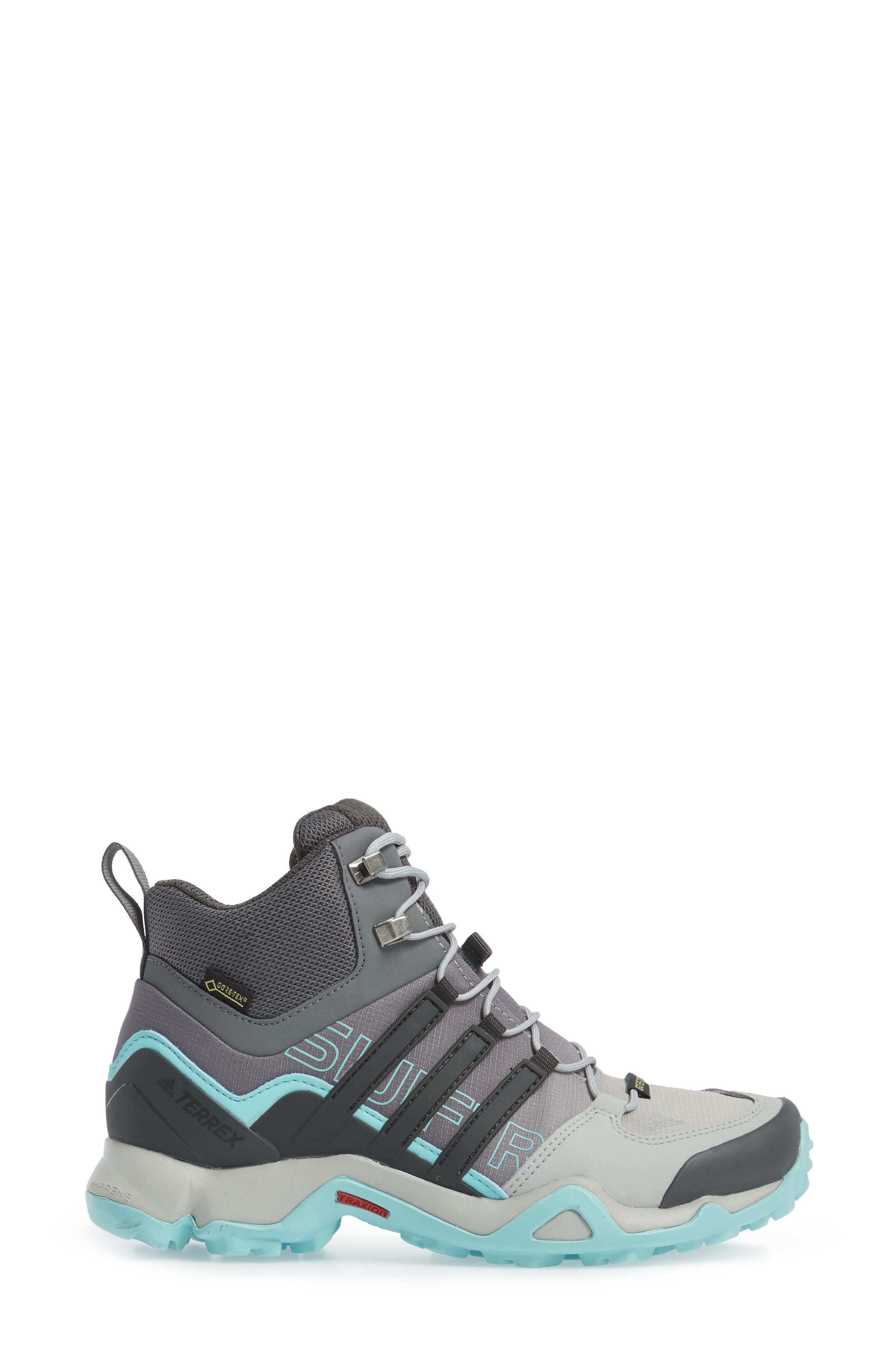 Terrex Swift R GTX Mid Hiking Boot,                             Alternate thumbnail 3, color,                             020