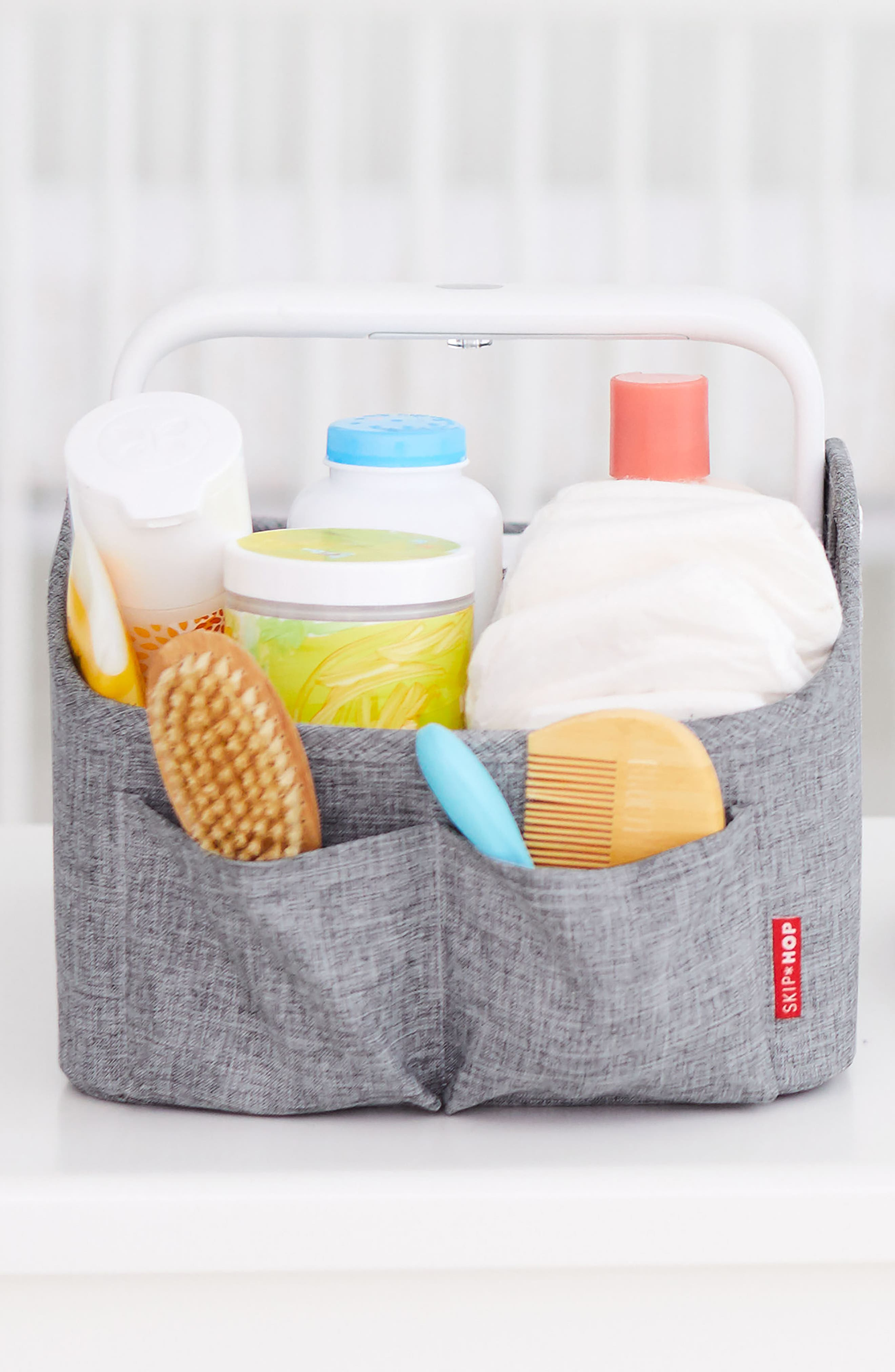 Light Up Diaper Caddy,                             Alternate thumbnail 2, color,                             HEATHER GREY