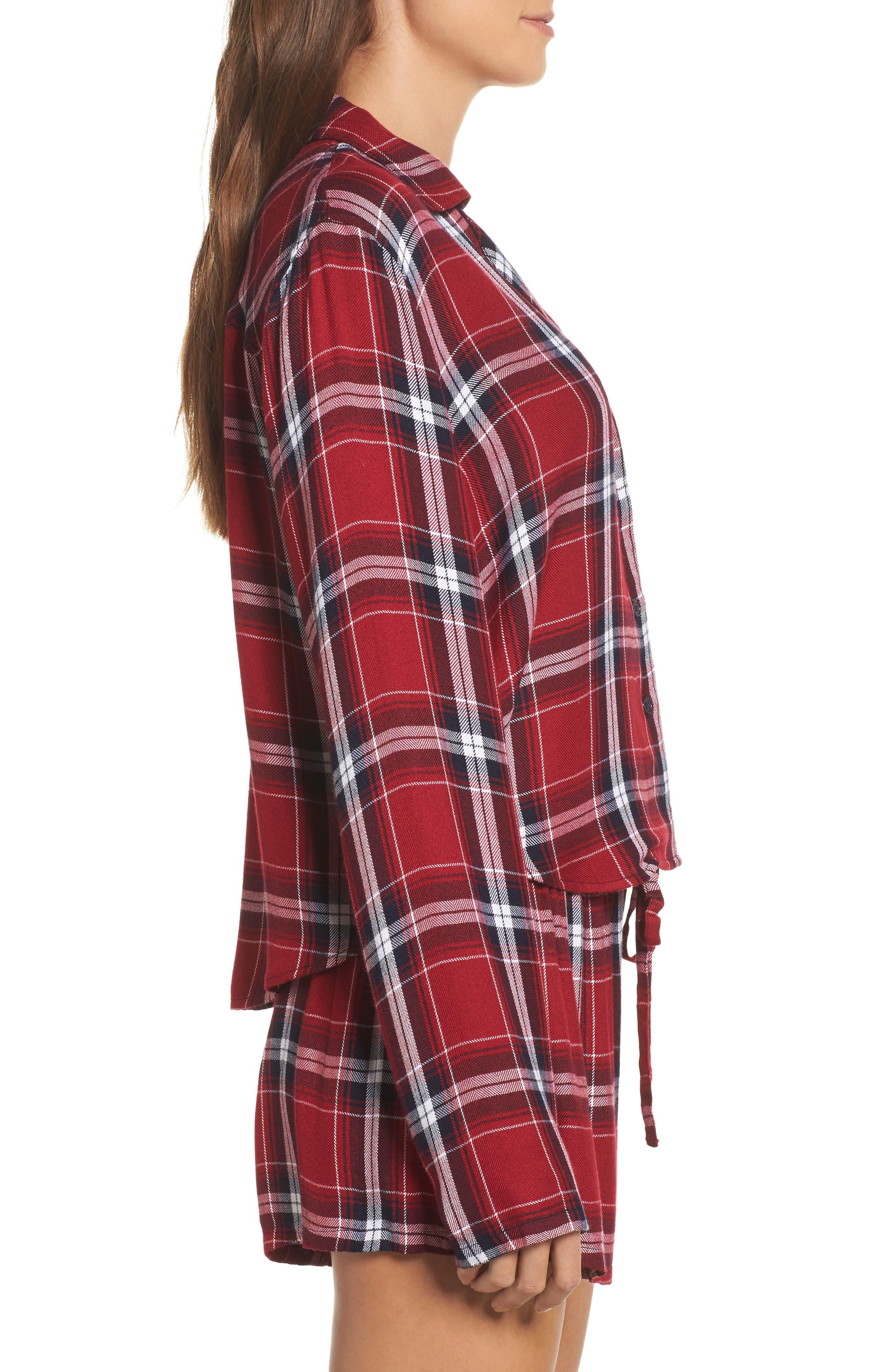 Plaid Short Pajamas,                             Alternate thumbnail 3, color,                             627