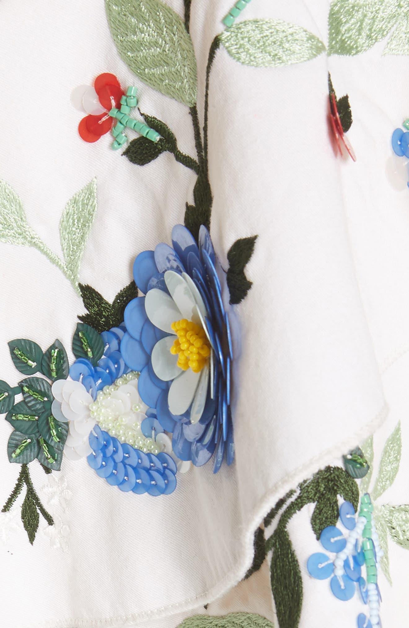 Embellished One-Shoulder Top,                             Alternate thumbnail 5, color,