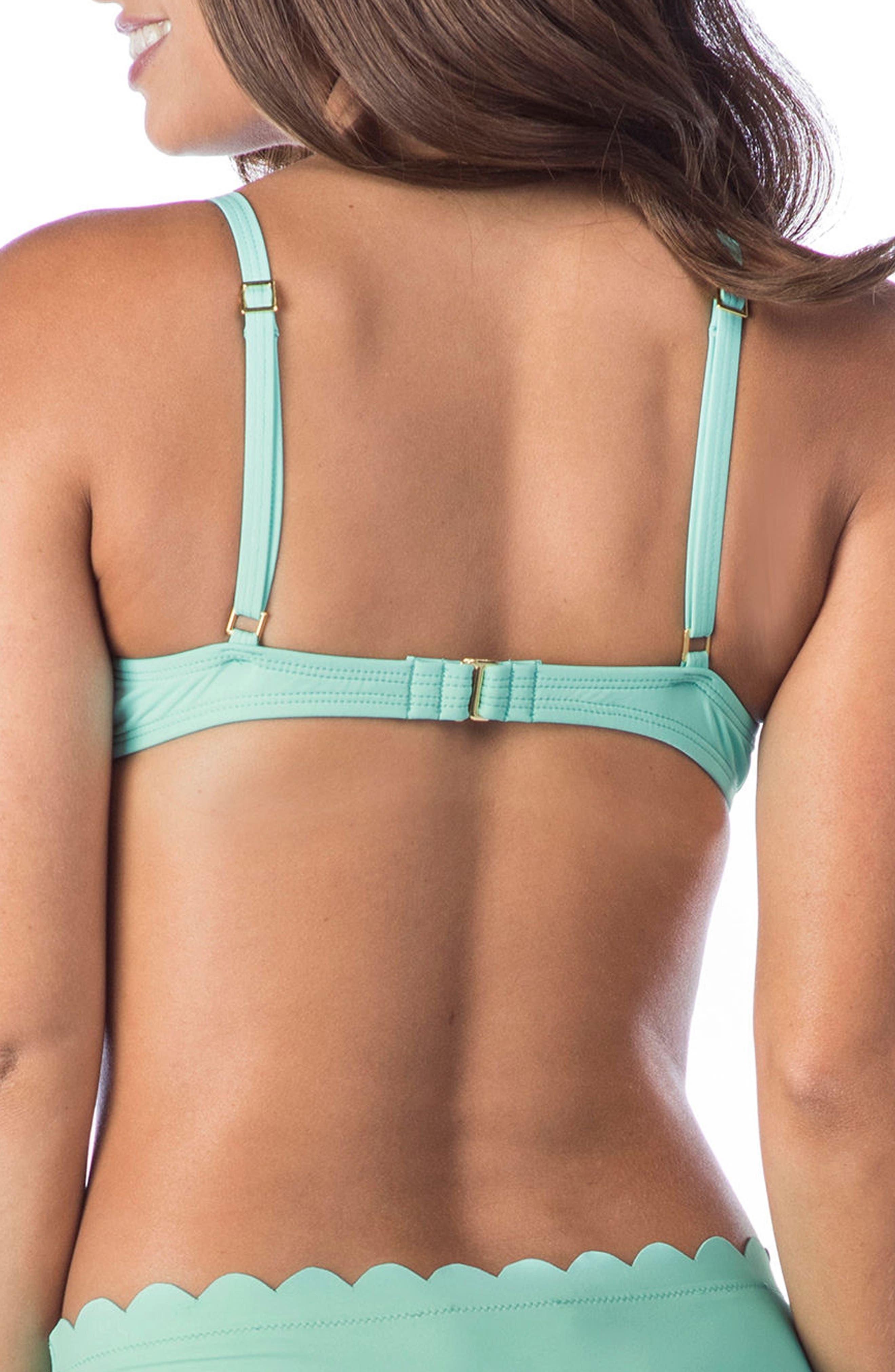 Petal Pusher Bikini Top,                             Alternate thumbnail 2, color,                             SEAFOAM