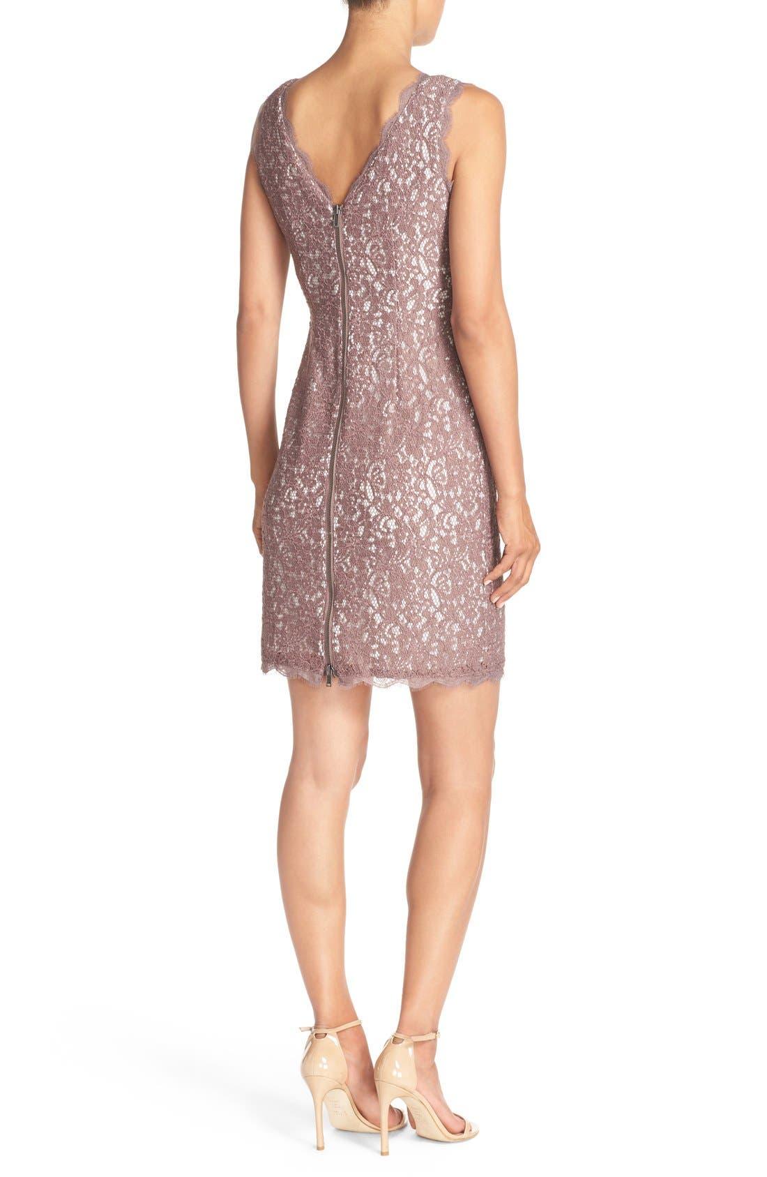 Boatneck Lace Sheath Dress,                             Alternate thumbnail 128, color,