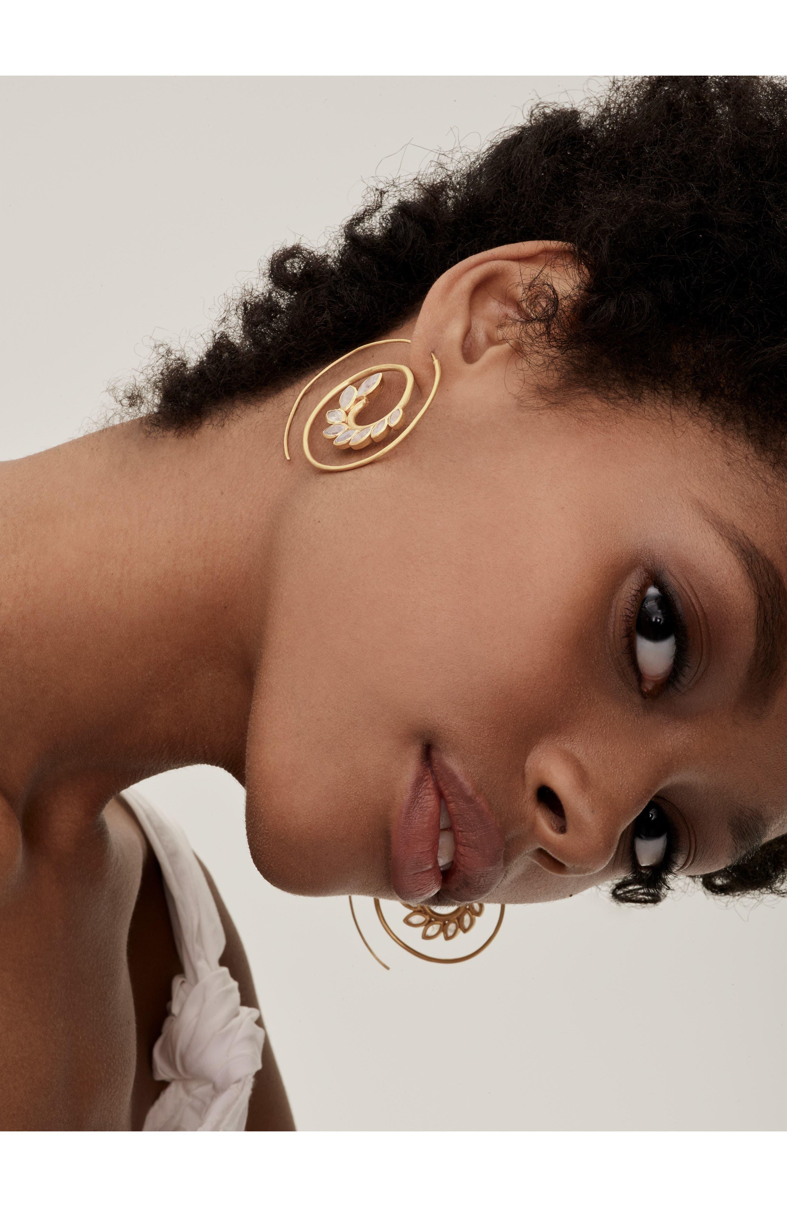 Kamala Spiral Earrings,                             Alternate thumbnail 3, color,                             710