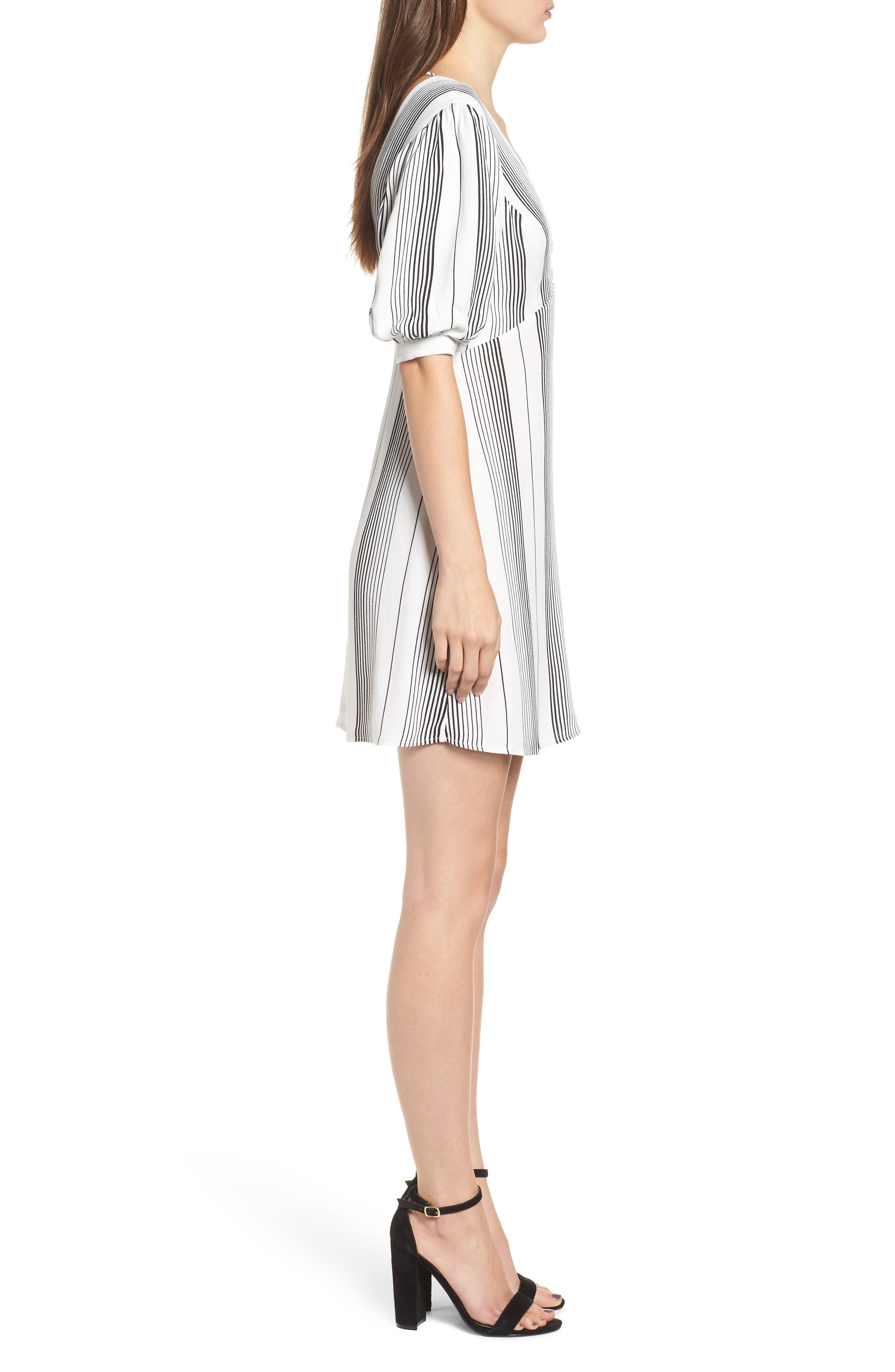 Jolie Minidress,                             Alternate thumbnail 2, color,                             BLANC STRIPE