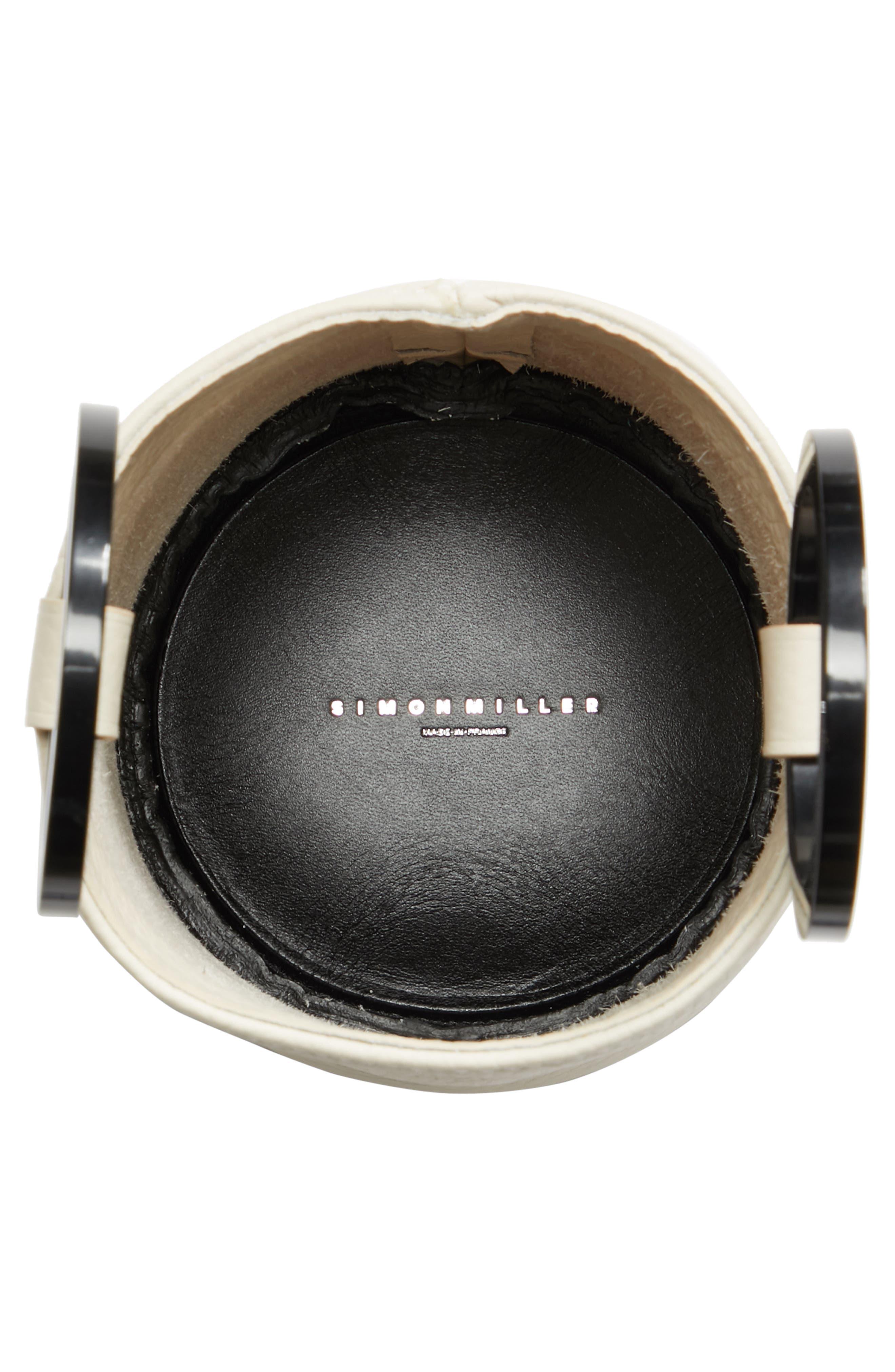 Bonsai 15 Calfskin Leather Bucket Bag,                             Alternate thumbnail 4, color,                             CLIFF