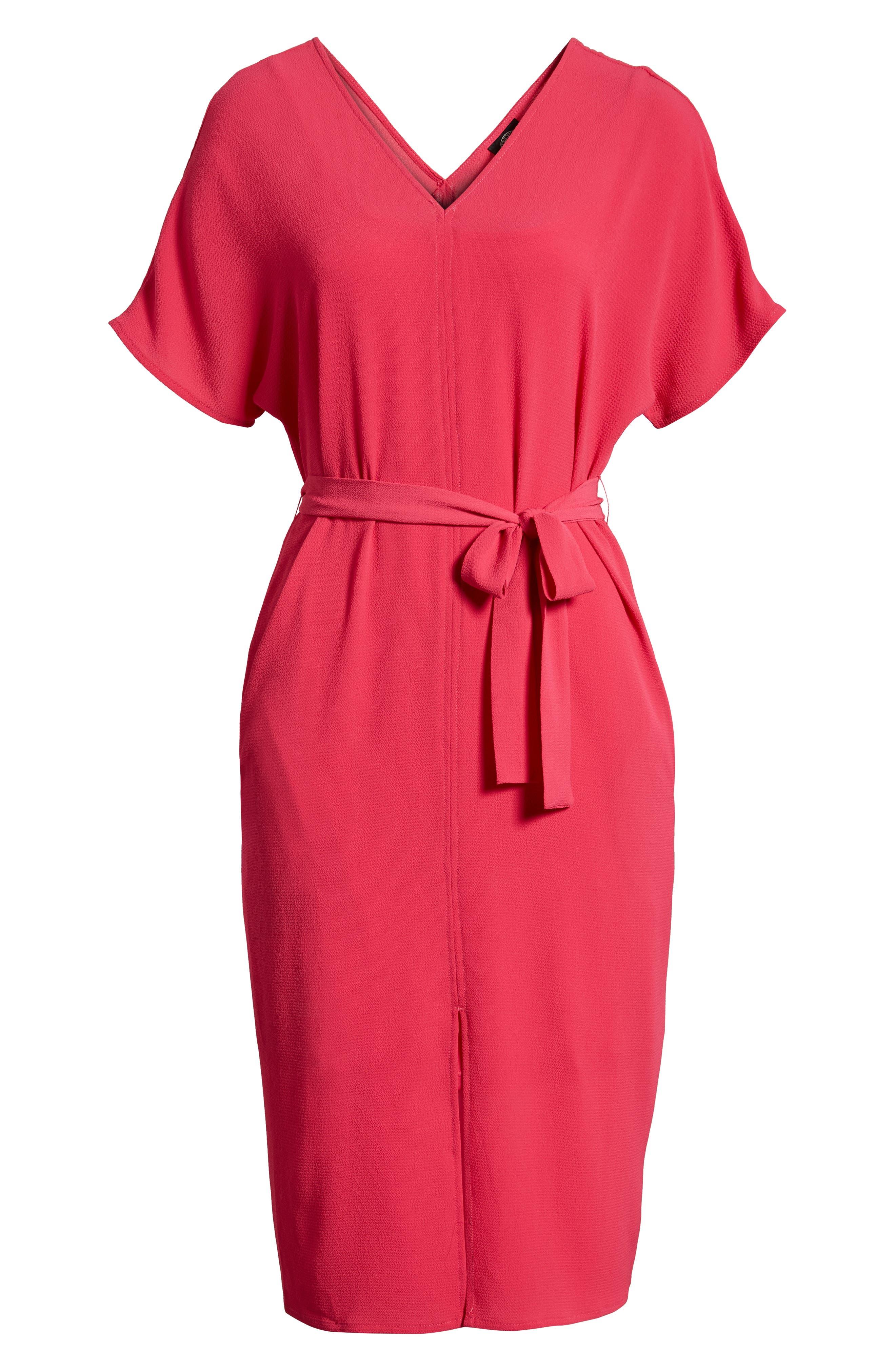 Stretch Crepe Dress,                             Alternate thumbnail 31, color,