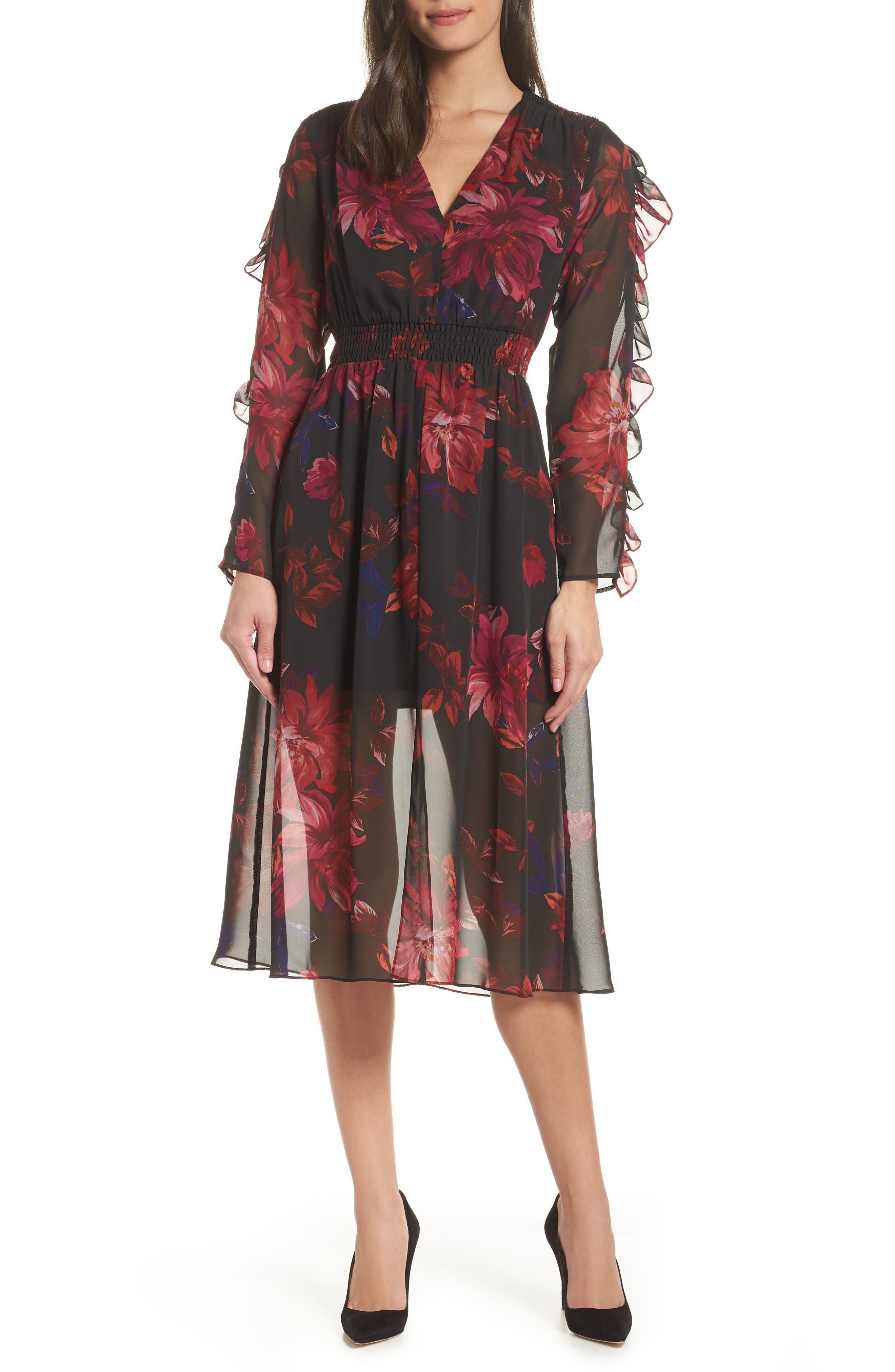 Ali & Jay Endless Love Midi Dress, Black