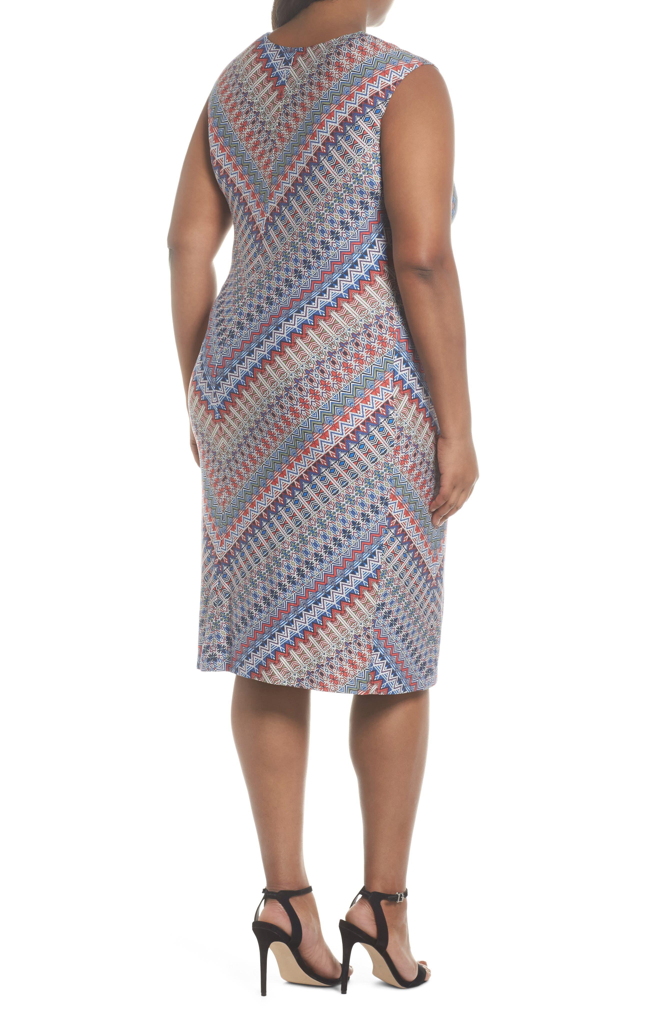 Zigzag Twist Dress,                             Alternate thumbnail 2, color,                             609