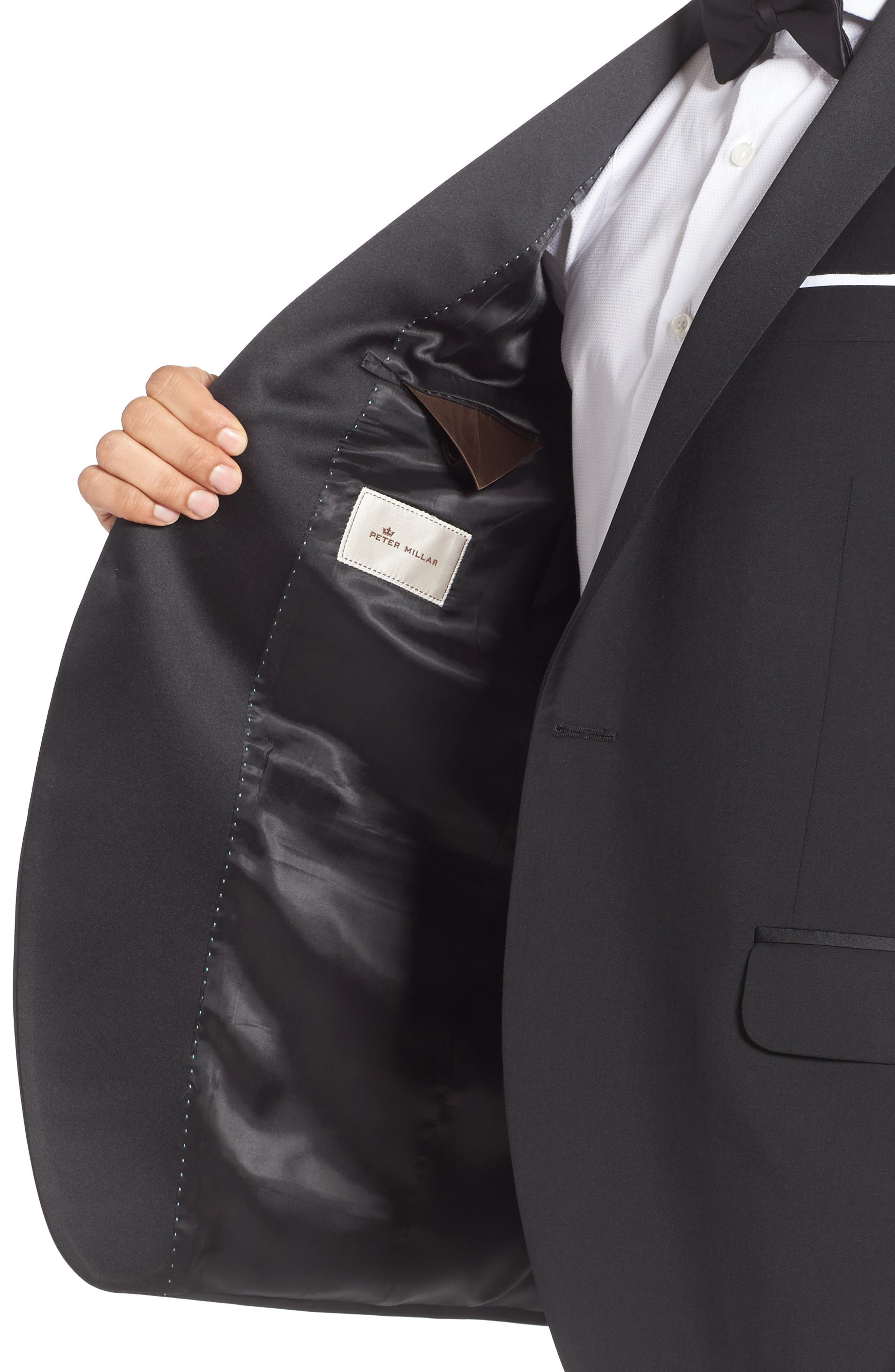 Classic Fit Wool & Mohair Tuxedo,                             Alternate thumbnail 4, color,                             001