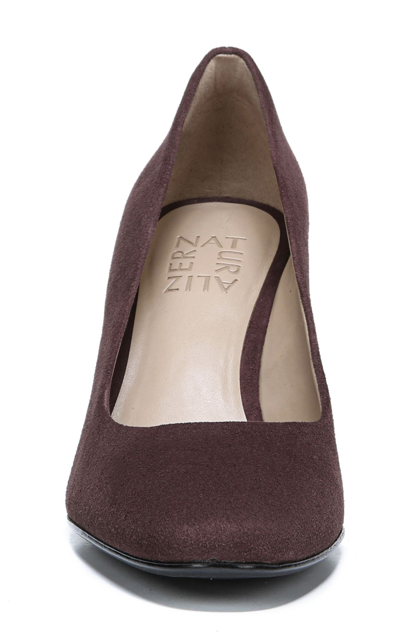 NATURALIZER,                             Gloria Pump,                             Alternate thumbnail 4, color,                             HUCKLEBERRY SUEDE