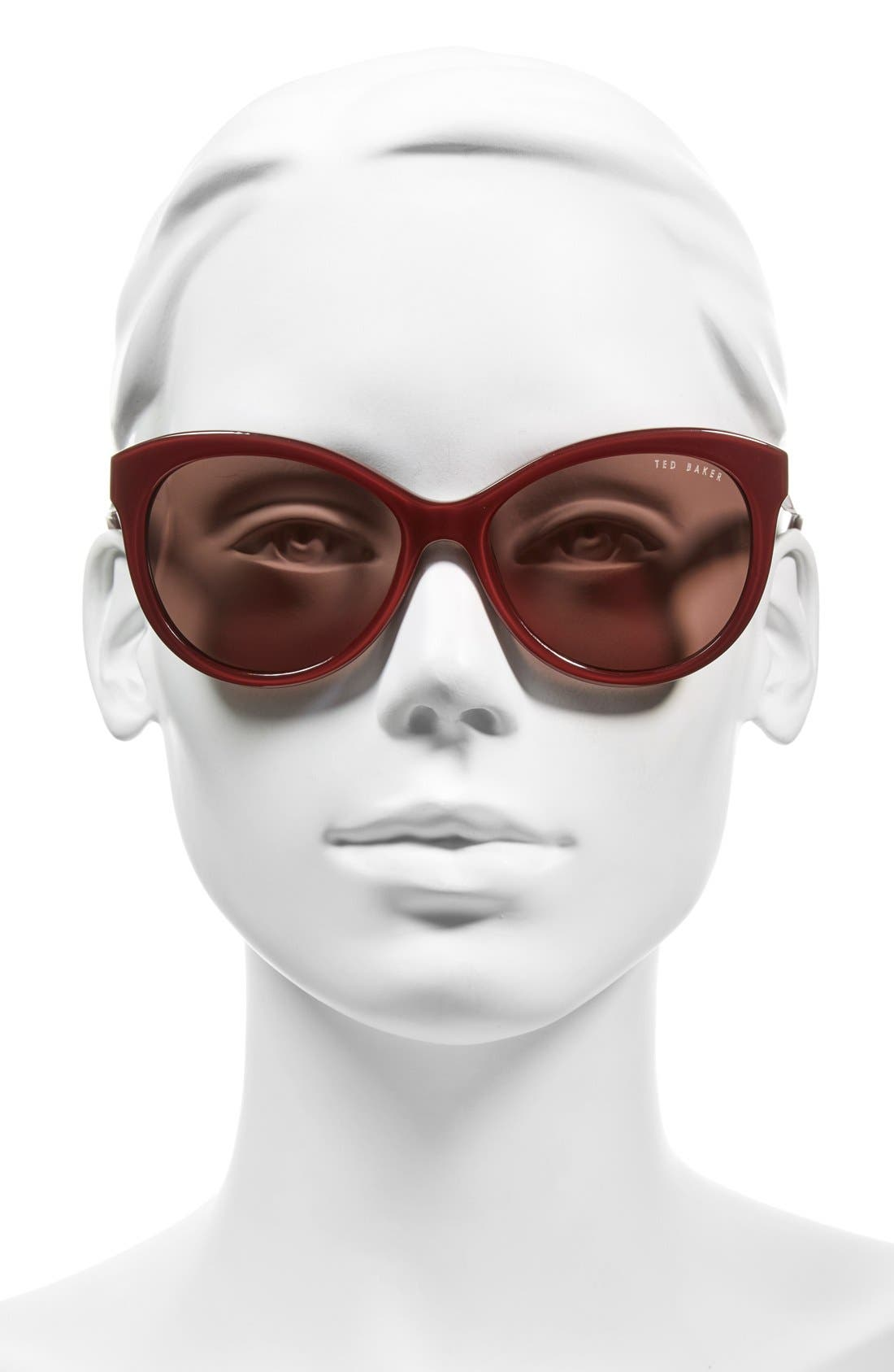 56mm Cat Eye Sunglasses,                             Alternate thumbnail 6, color,