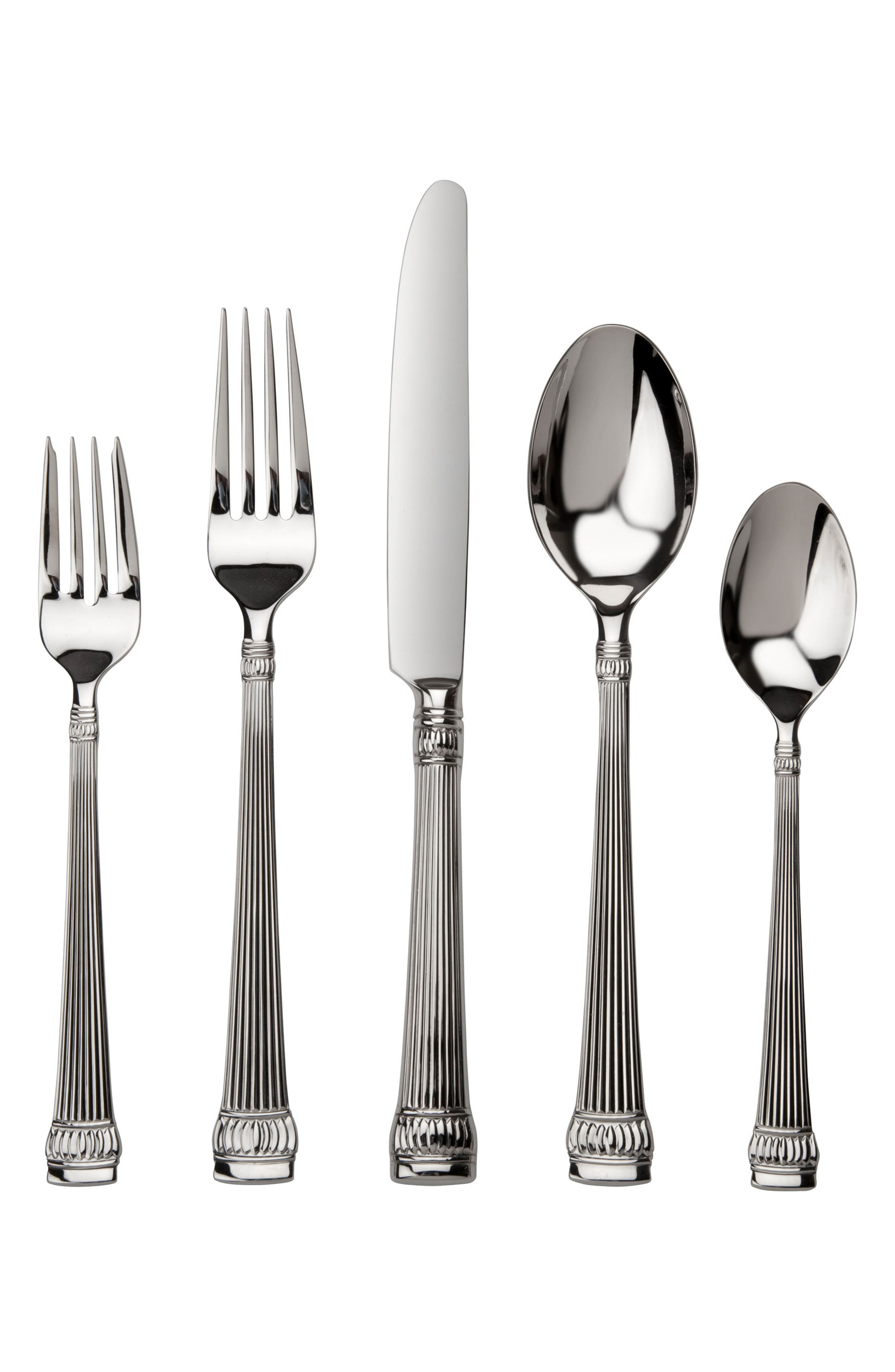 Argentieri Girasole 45-Piece Stainless Steel Flatware Set,                         Main,                         color, GIRASOLE
