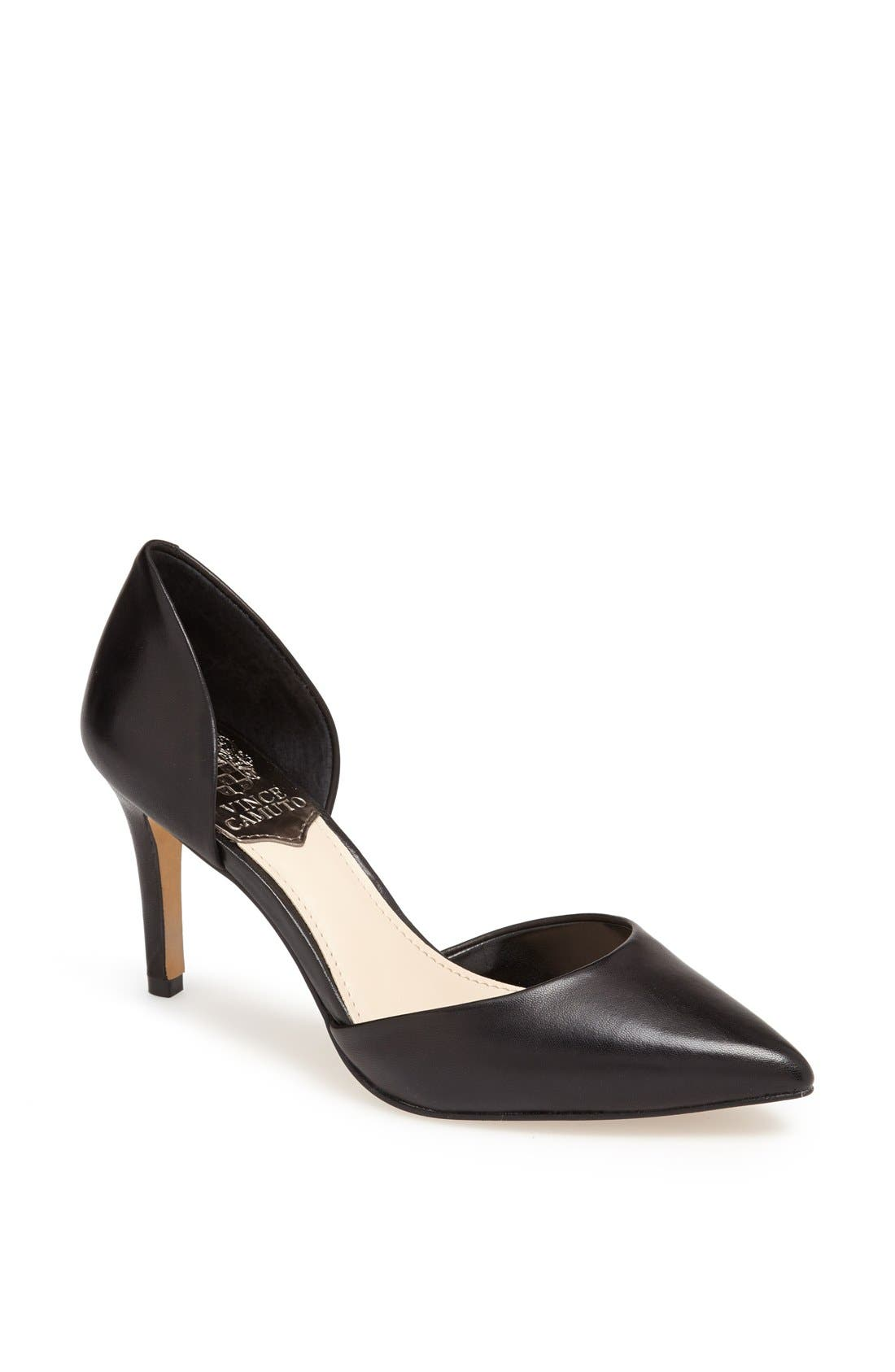 'Raccia' Pointy Toe d'Orsay Pump,                             Main thumbnail 1, color,                             001